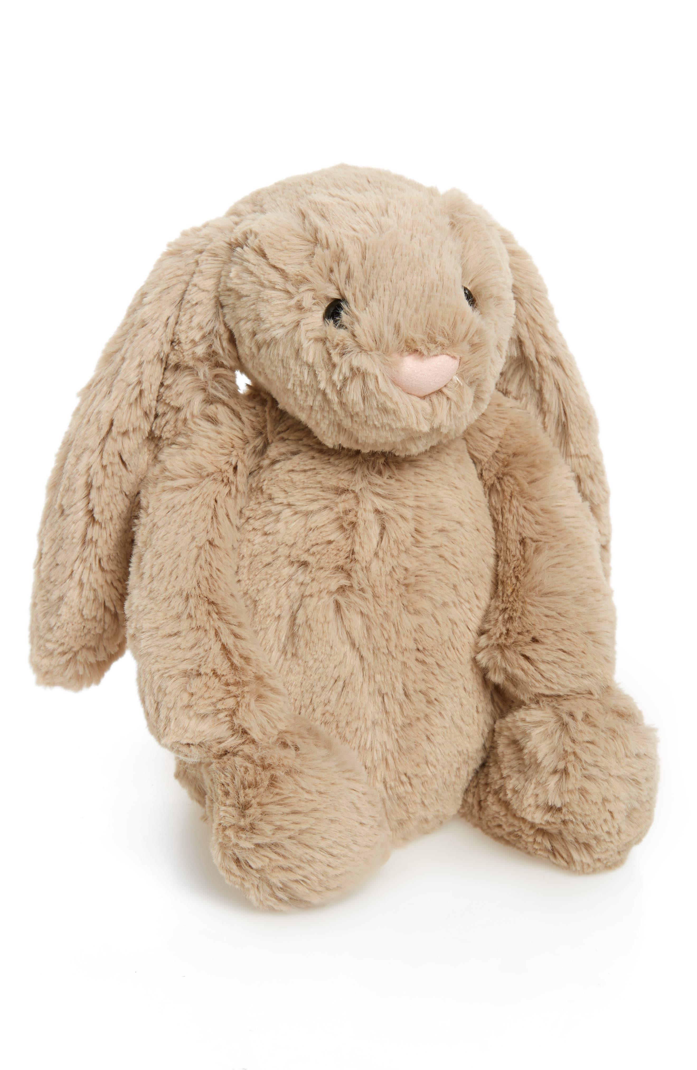 JELLYCAT, 'Bashful' Bunny, Main thumbnail 1, color, MEDIUM BEIGE