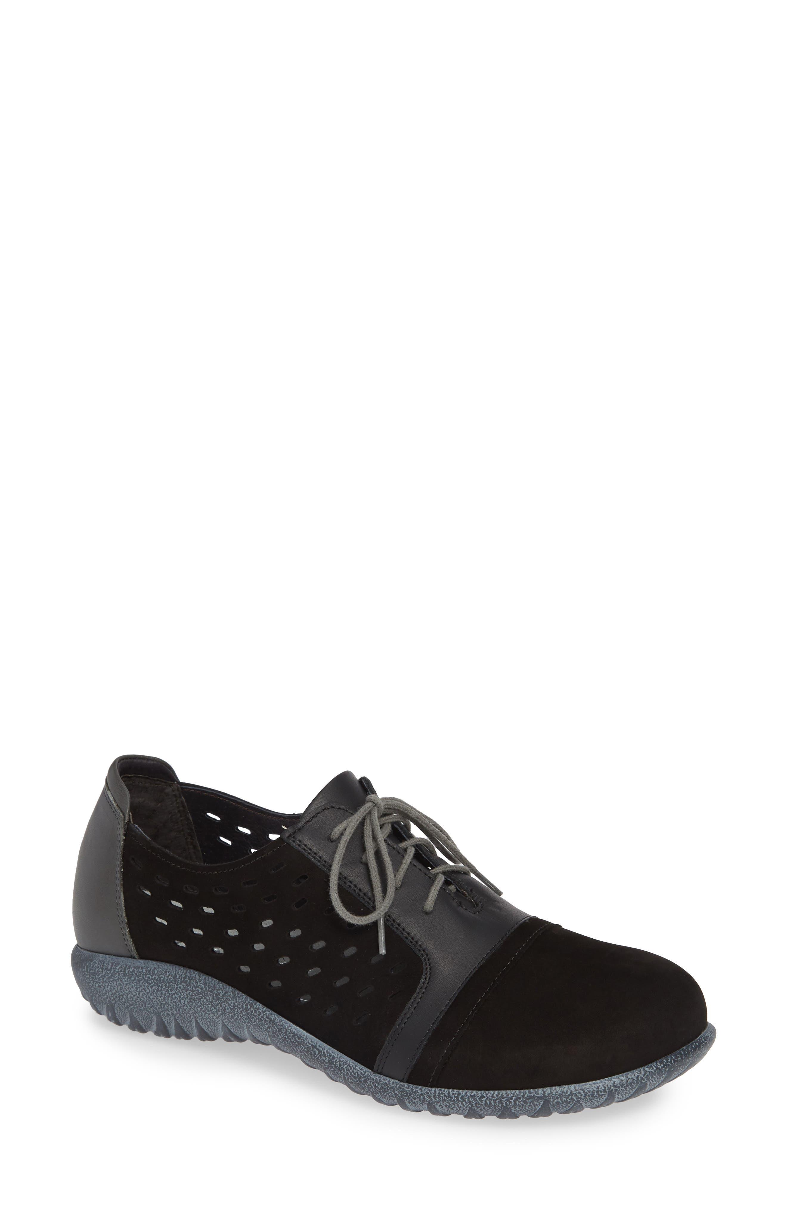 NAOT Lalo Sneaker, Main, color, BLACK NUBUCK