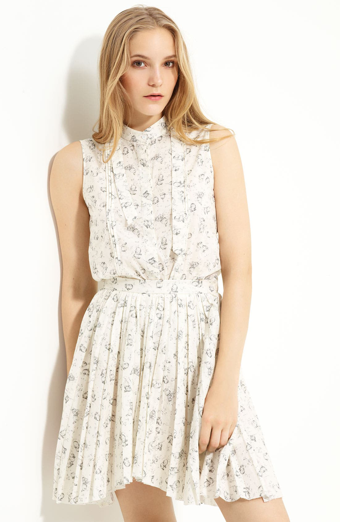 BOY. BY BAND OF OUTSIDERS, Band of Outsiders Rabbit Print Sleeveless Top, Main thumbnail 1, color, 110
