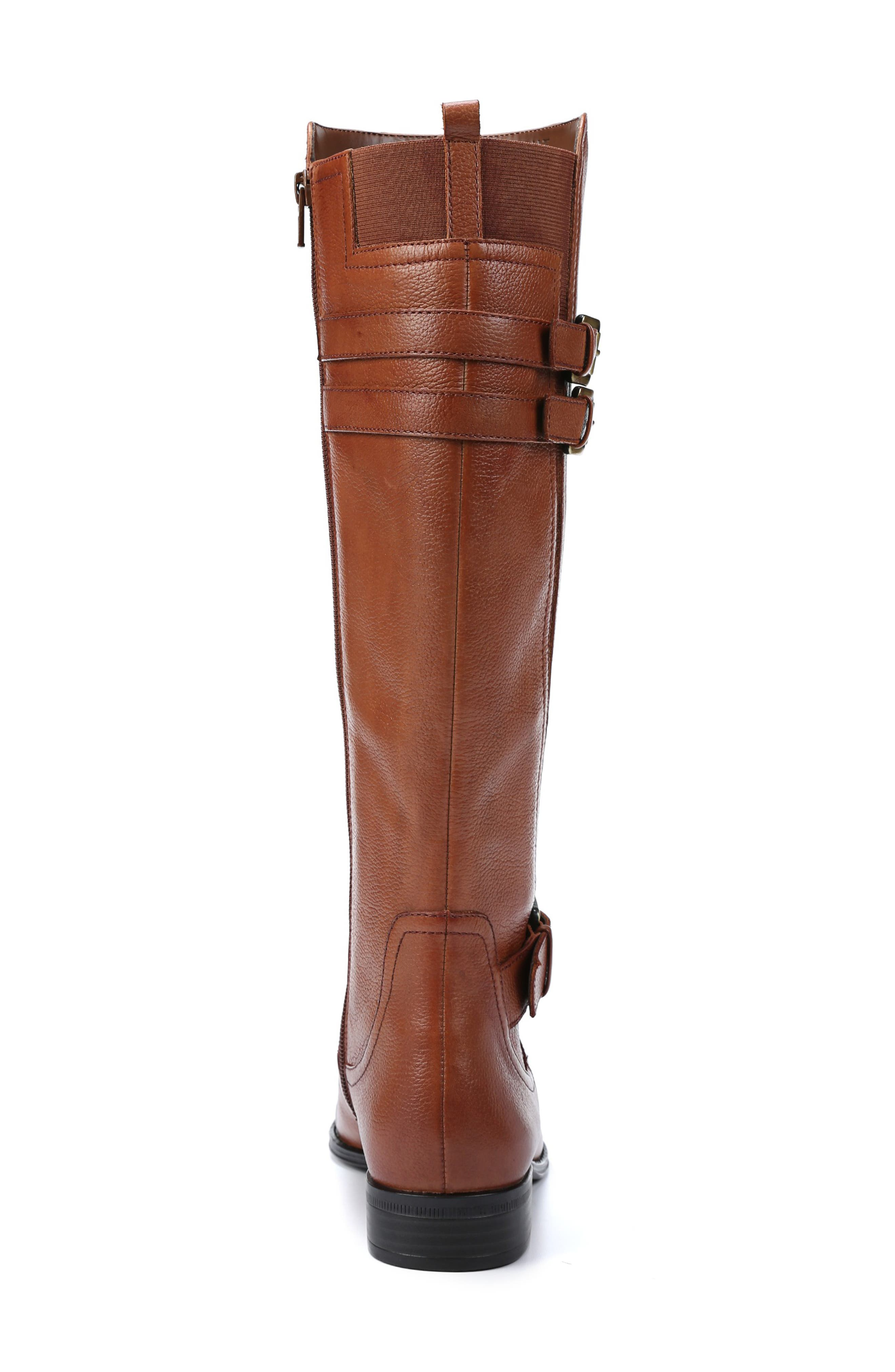 NATURALIZER, Jessie Knee High Riding Boot, Alternate thumbnail 7, color, BANANA BREAD LEATHER