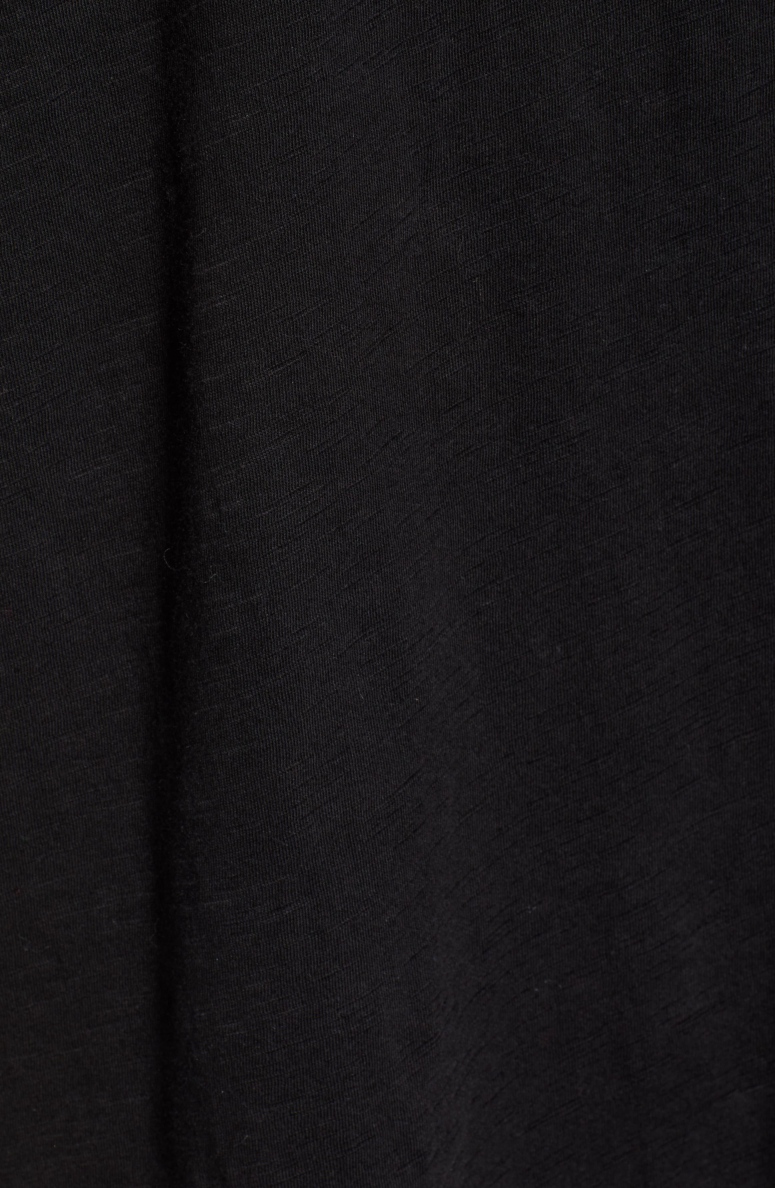 CASLON<SUP>®</SUP>, Tie Front Top, Alternate thumbnail 5, color, BLACK