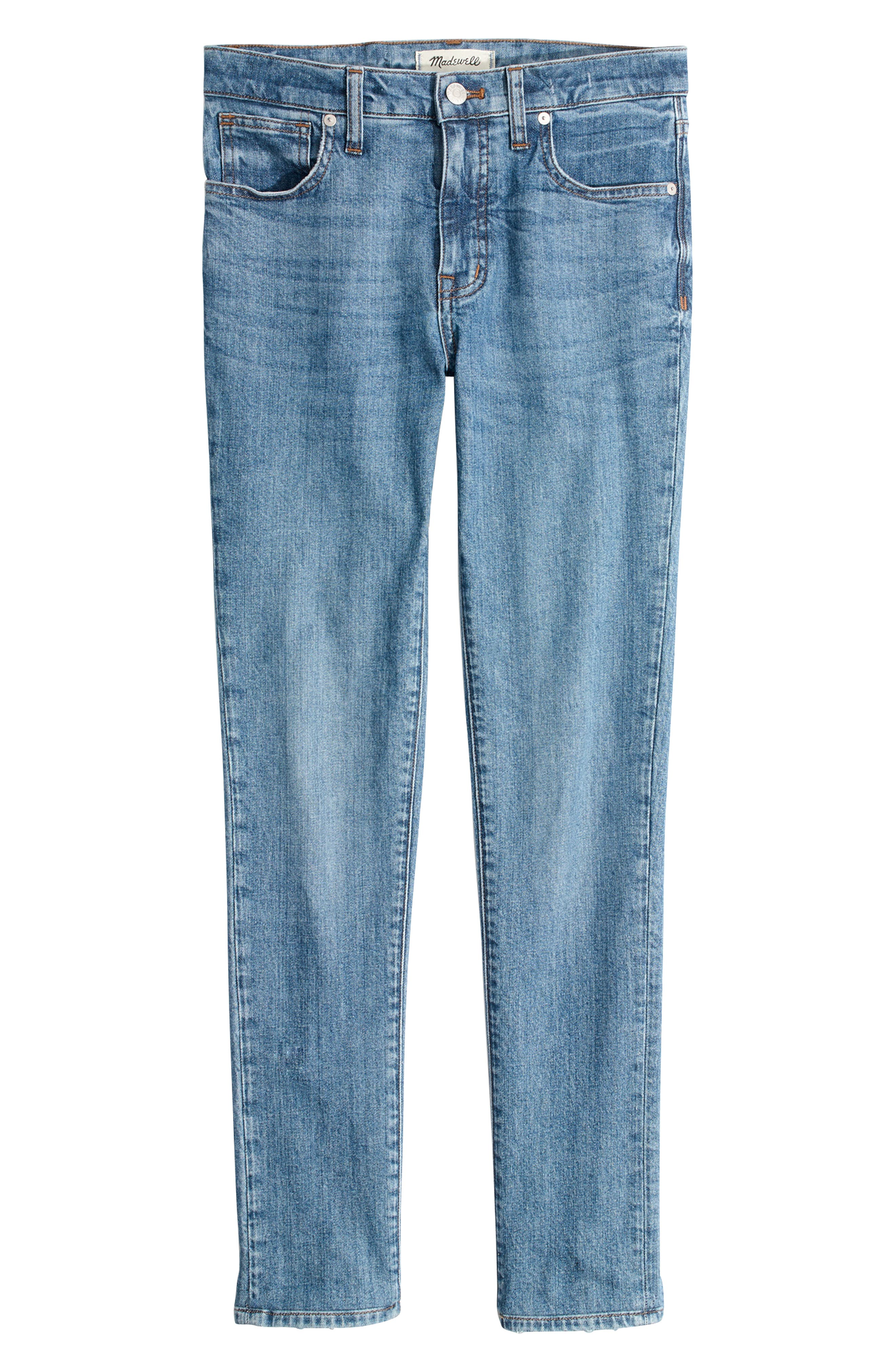 MADEWELL, 9-Inch High Waist Stretch Skinny Jeans, Alternate thumbnail 6, color, REGINA