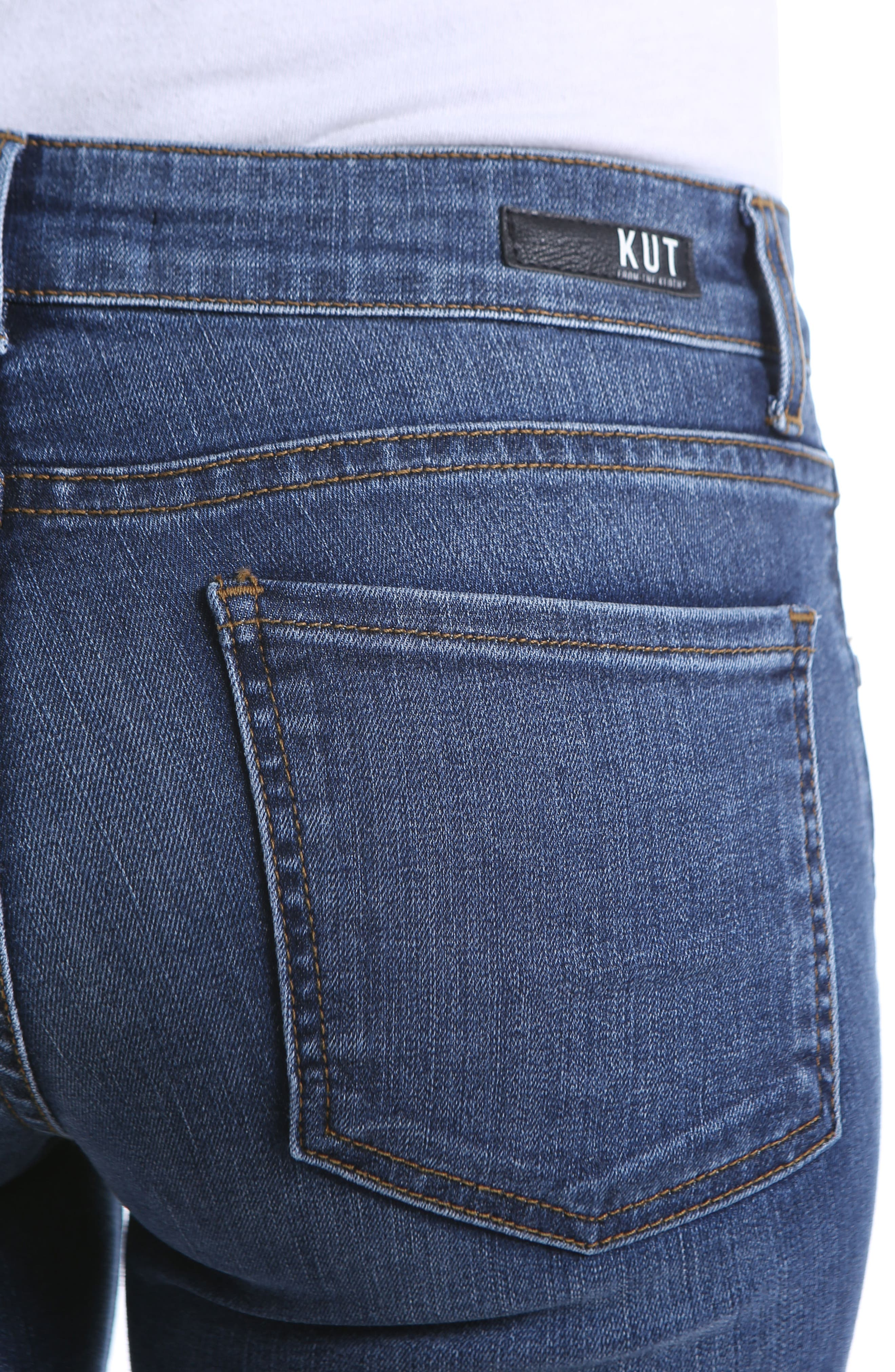 KUT FROM THE KLOTH, Natalie Bootleg Jeans, Alternate thumbnail 5, color, FELLOWSHIP