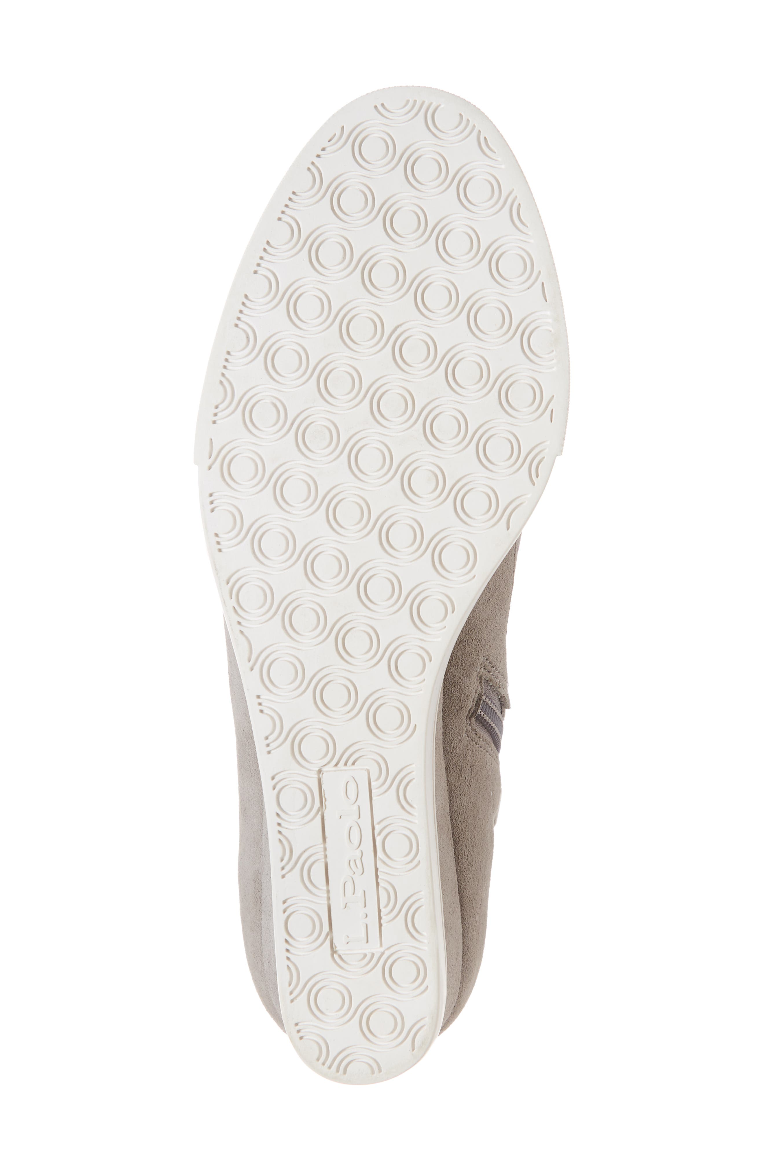 LINEA PAOLO, Anna Wedge Sneaker, Alternate thumbnail 6, color, ROCK PER SUEDE