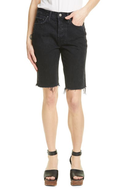 Grlfrnd Shorts BEVERLY BERMUDA DENIM SHORTS