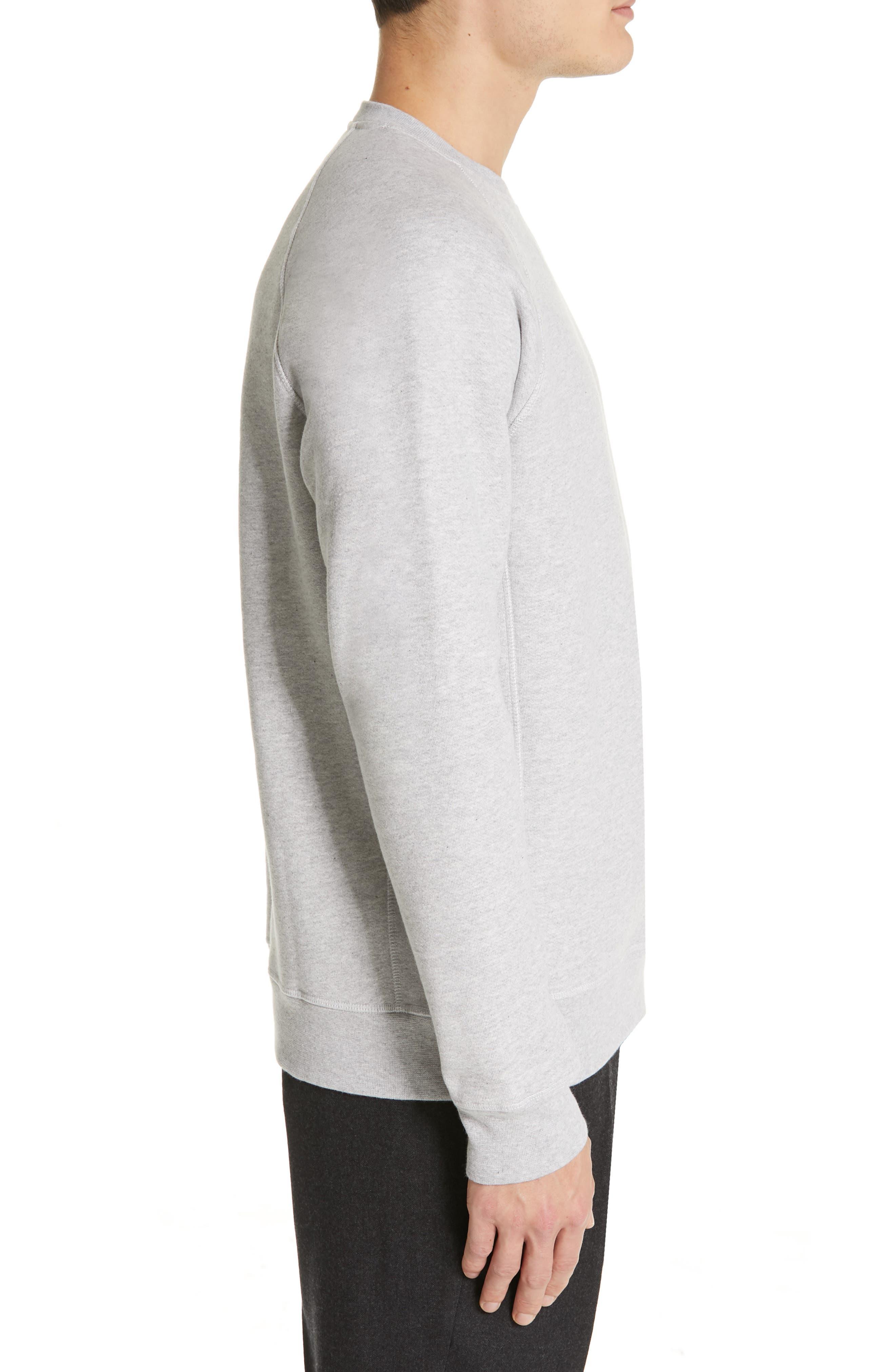 NORSE PROJECTS, Ketel Raglan Sweatshirt, Alternate thumbnail 3, color, LIGHT GREY MELANGE