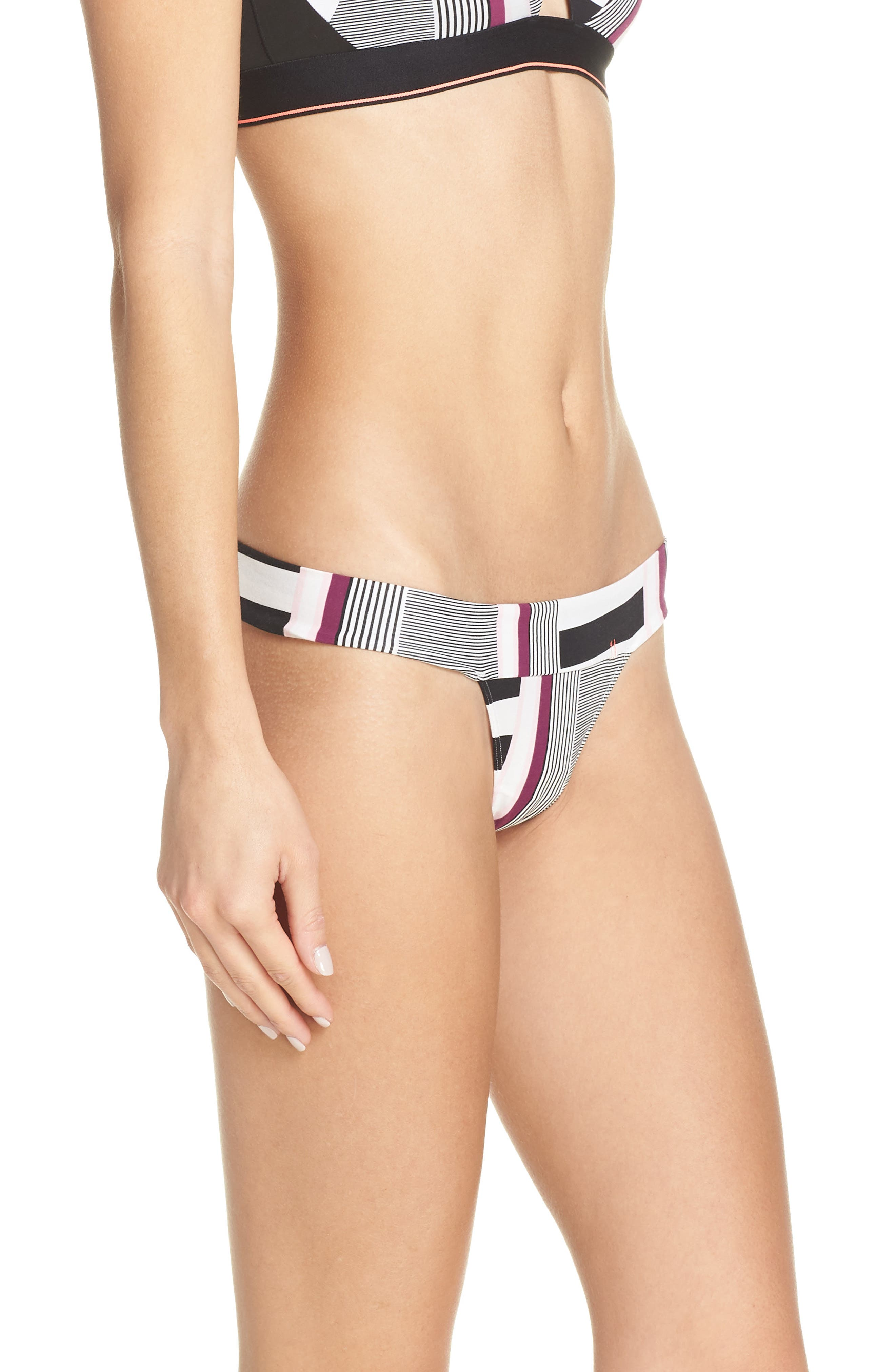 STANCE, Wide Side Thong, Alternate thumbnail 3, color, BLACK AND WHITE
