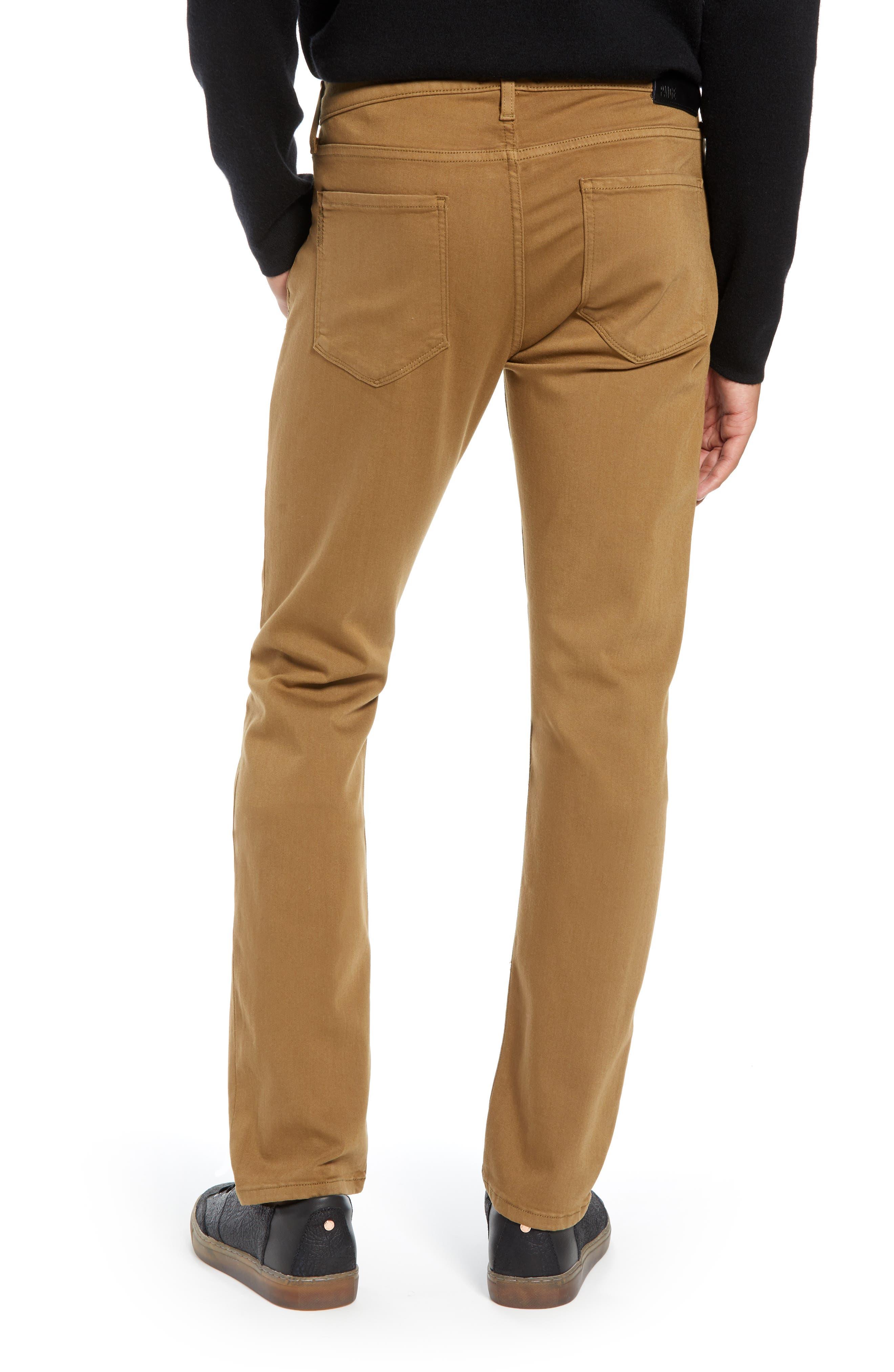 PAIGE, Transcend - Federal Slim Straight Leg Jeans, Alternate thumbnail 2, color, LAUREL TAN