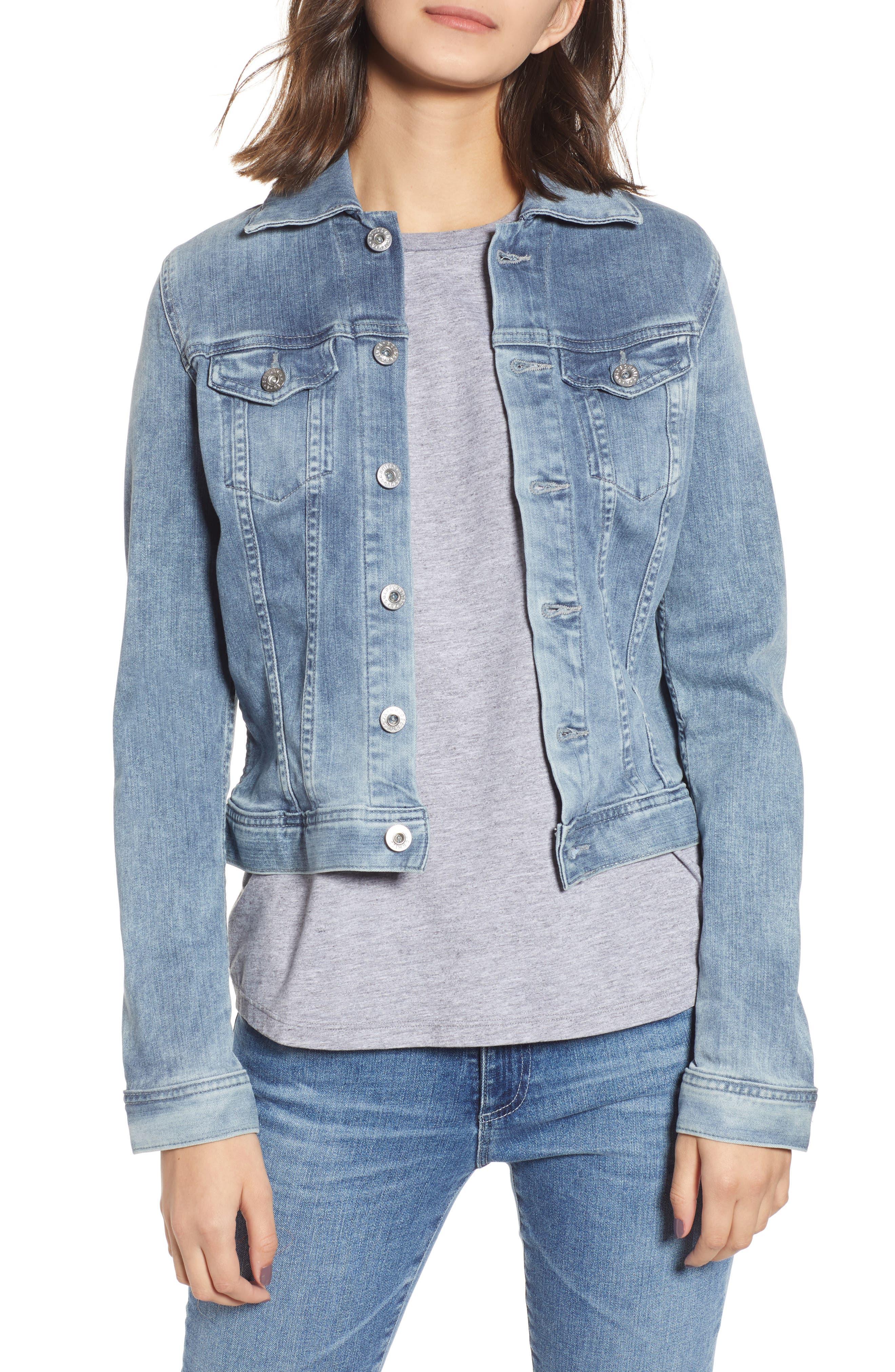 AG 'Robyn' Denim Jacket, Main, color, 439