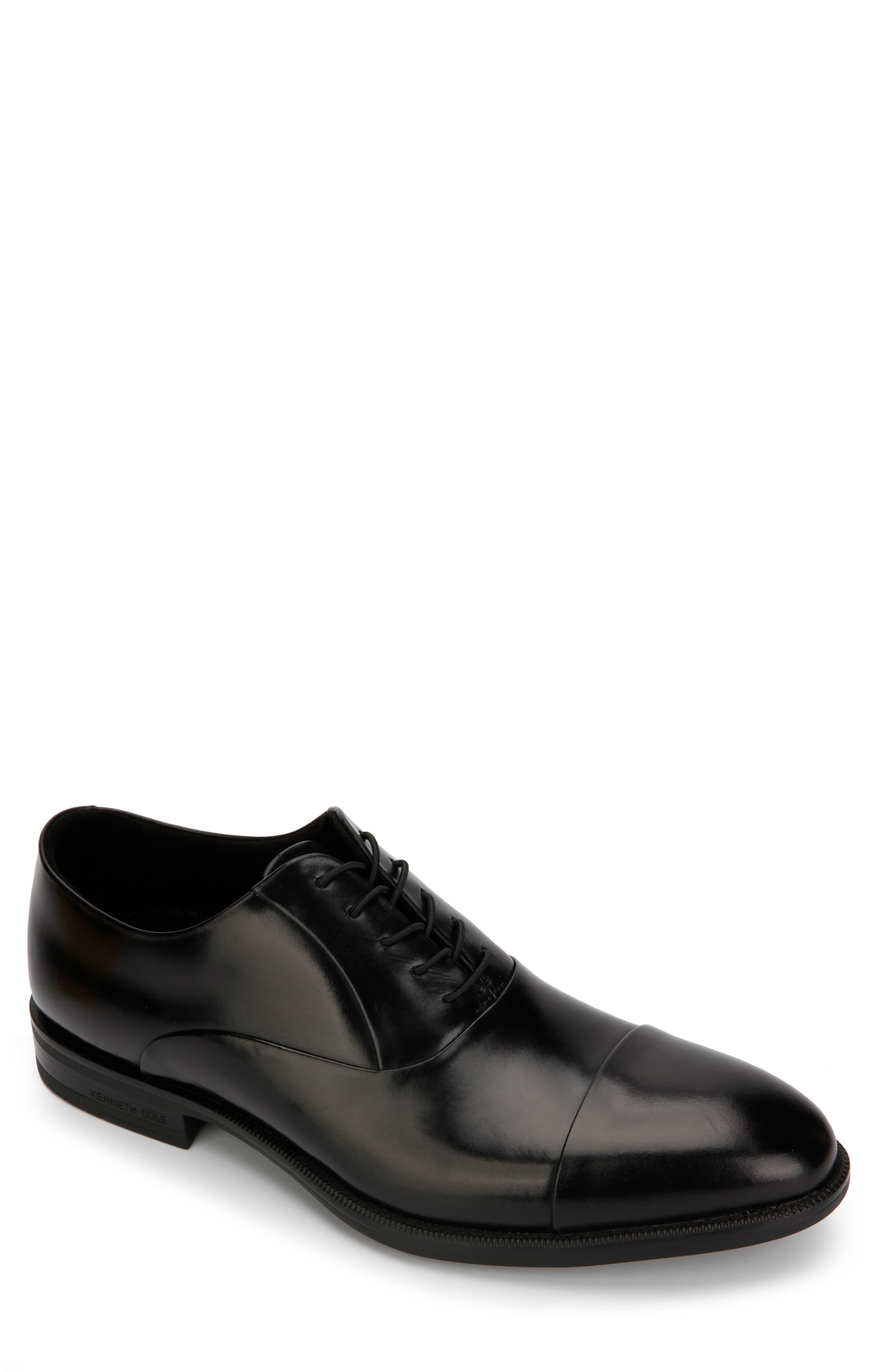 KENNETH COLE NEW YORK, Futurepod Cap Toe Oxford, Main thumbnail 1, color, BLACK LEATHER