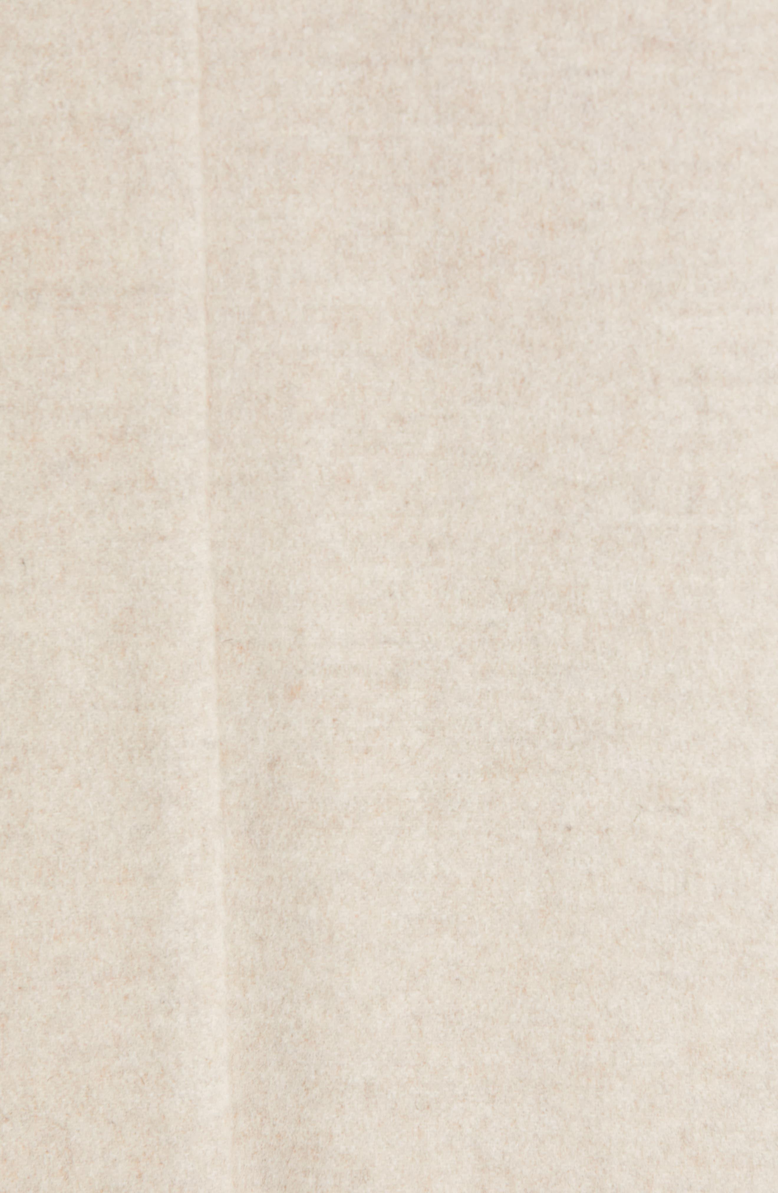 VINCE, Wool Blend Wrap Coat, Alternate thumbnail 7, color, H SHALE