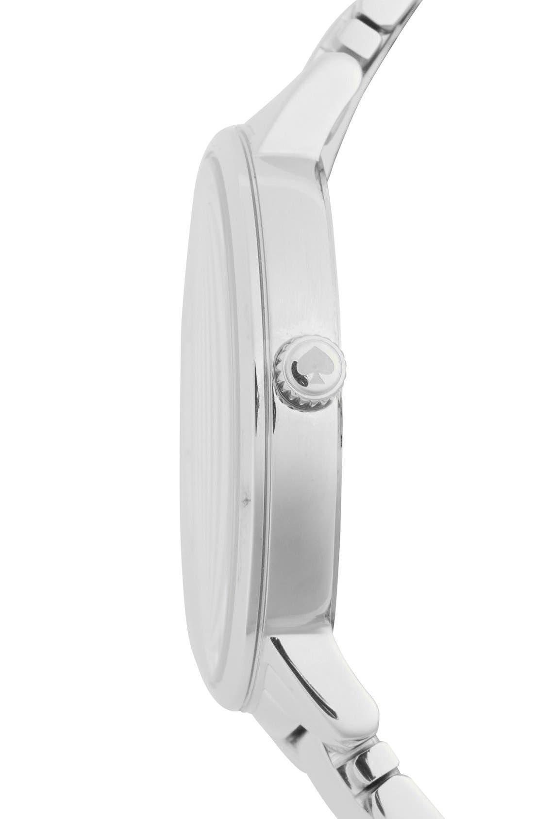 KATE SPADE NEW YORK, 'gramercy grand' bracelet watch, 38mm, Alternate thumbnail 4, color, 040