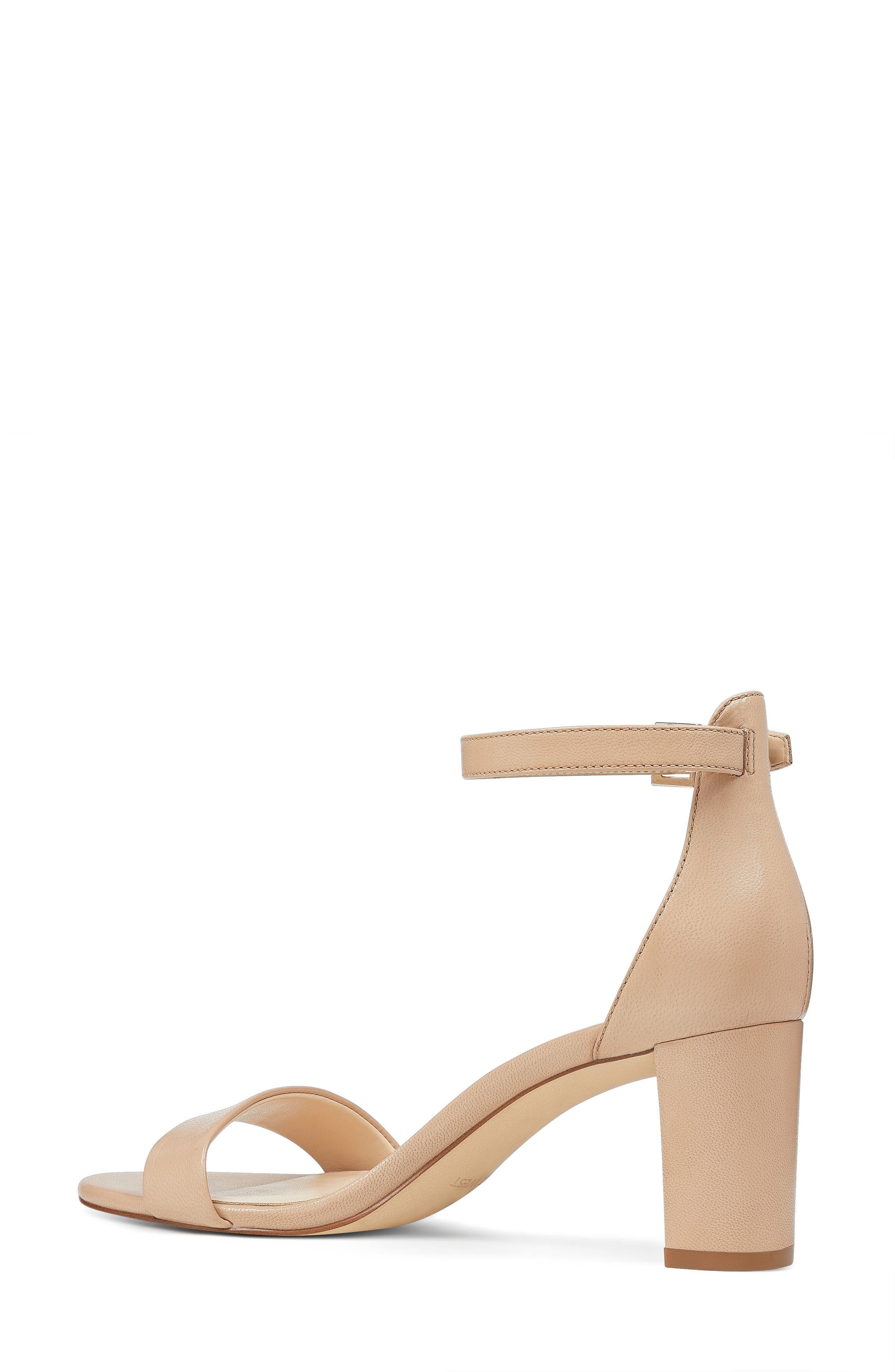 NINE WEST, Pruce Ankle Strap Sandal, Alternate thumbnail 2, color, LIGHT NATURAL LEATHER