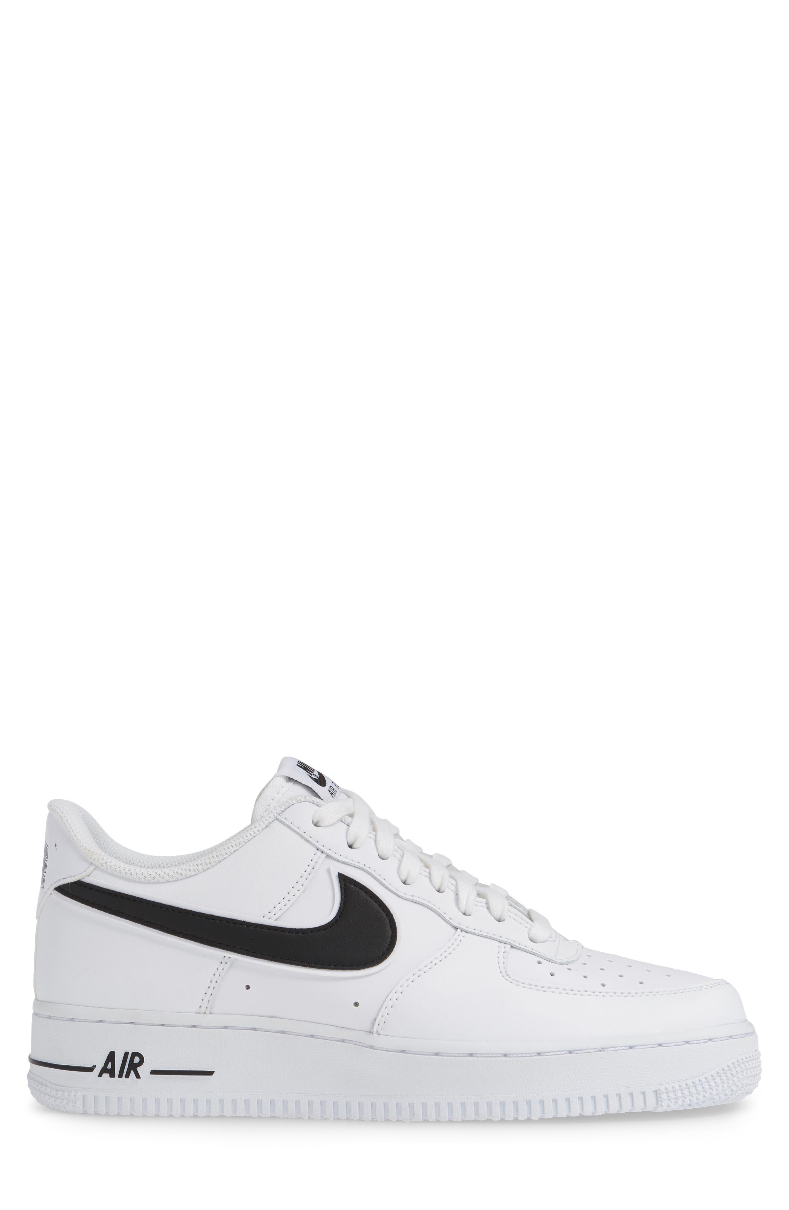 NIKE, Air Force 1 '07 3 Sneaker, Alternate thumbnail 3, color, WHITE/ BLACK