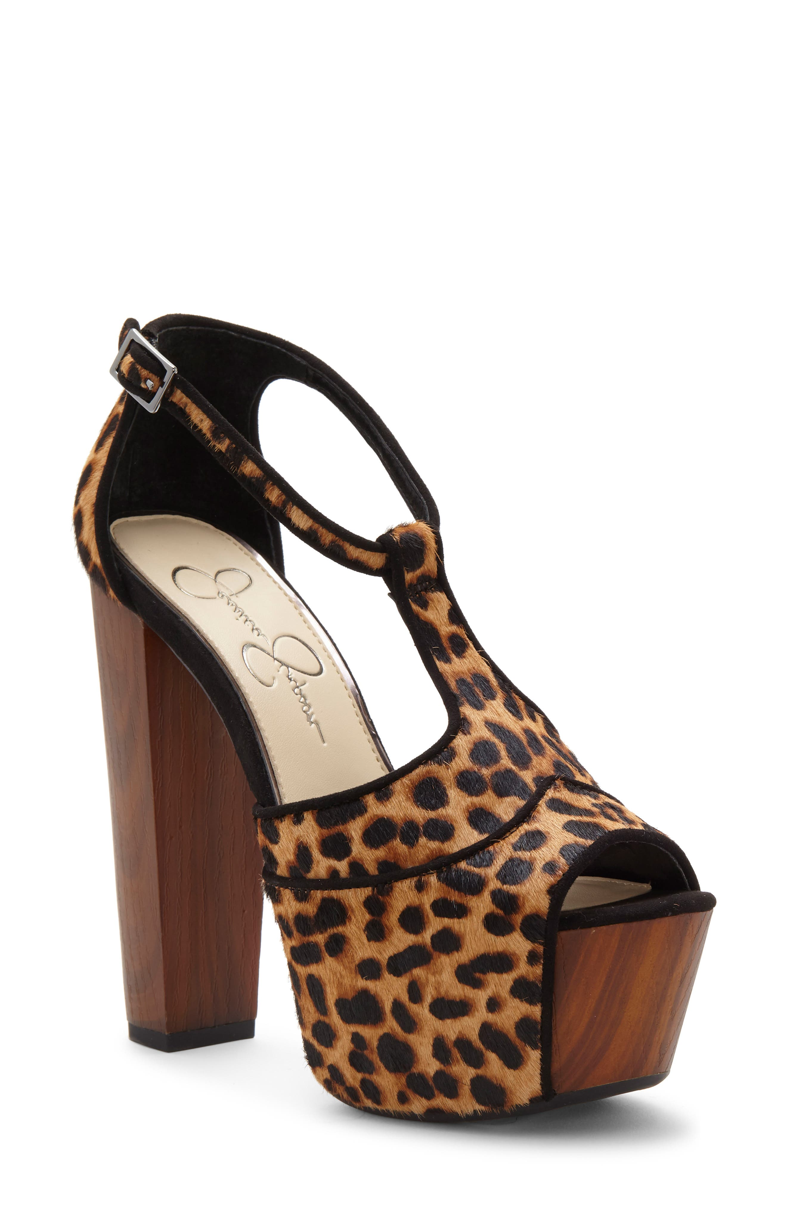 JESSICA SIMPSON, 'Dany' Genuine Calf Hair Sandal, Main thumbnail 1, color, NATURAL/NATURAL CALF HAIR