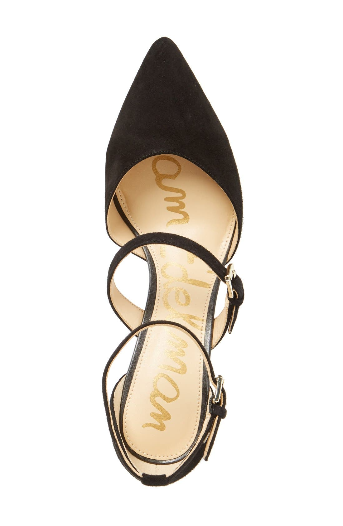 SAM EDELMAN, 'Thea' Strappy Pump, Alternate thumbnail 3, color, 001