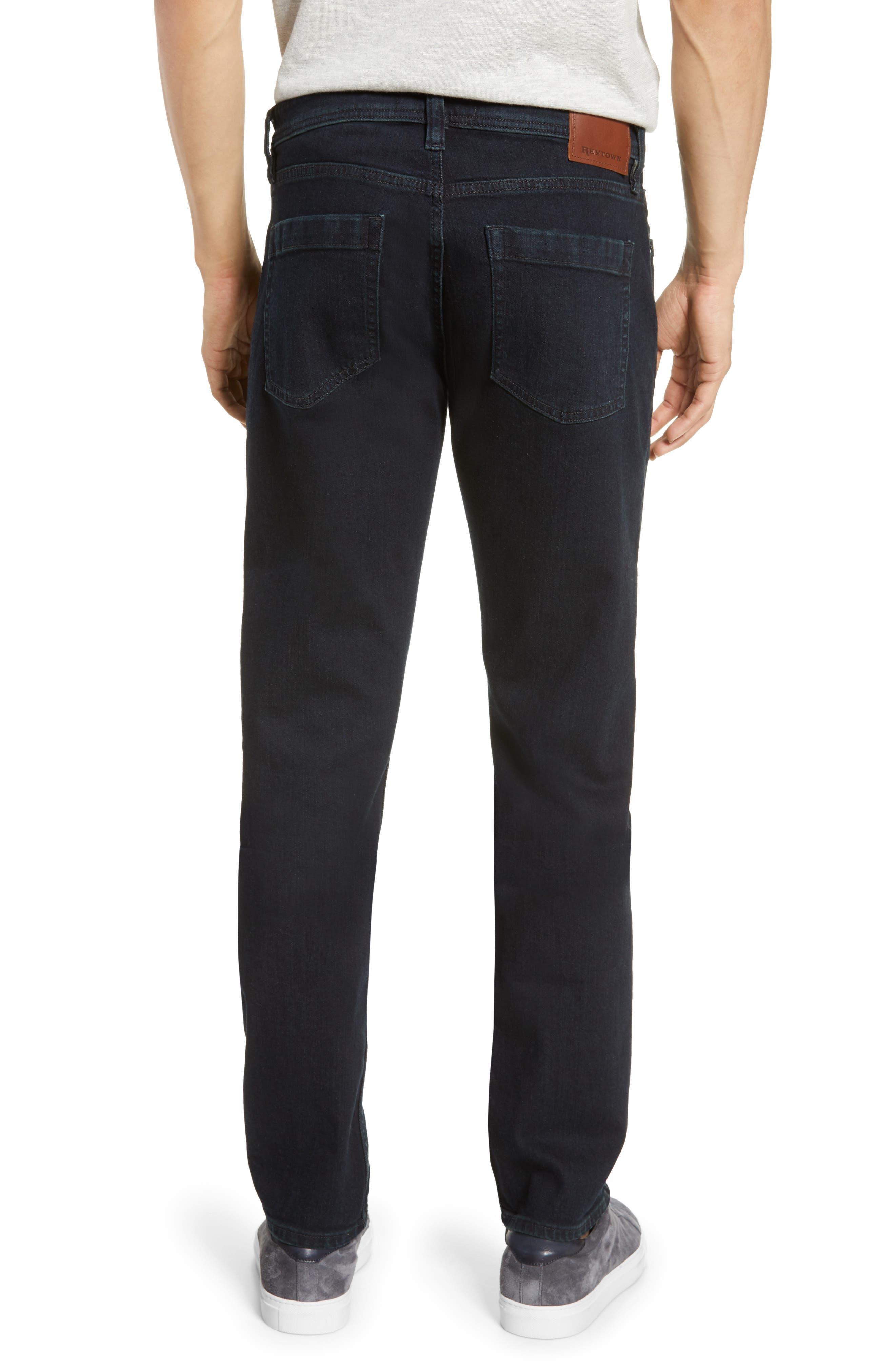 REVTOWN, Sharp Slim Fit Jeans, Alternate thumbnail 2, color, RINSE INDIGO