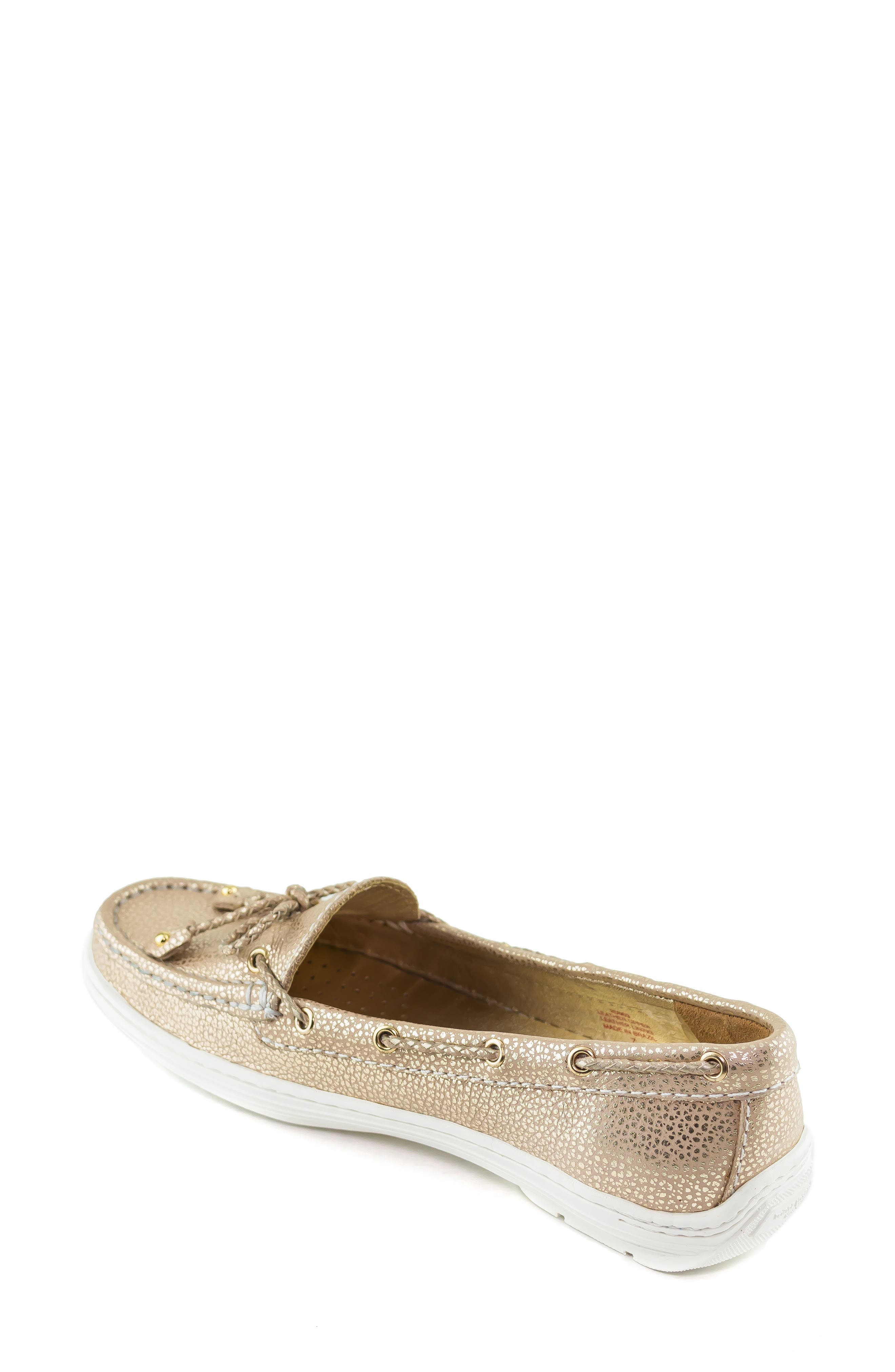 MARC JOSEPH NEW YORK, Pacific Loafer, Alternate thumbnail 2, color, GOLD LEATHER