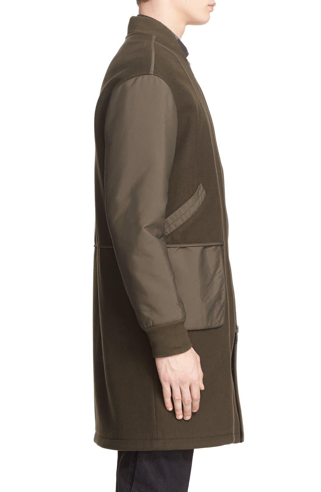 HELMUT LANG, Oversize Bomber Coat, Alternate thumbnail 5, color, 326