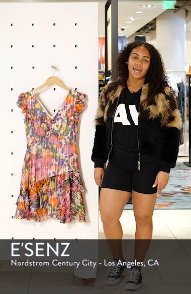 Catia Floral Print Silk Blend Minidress, sales video thumbnail