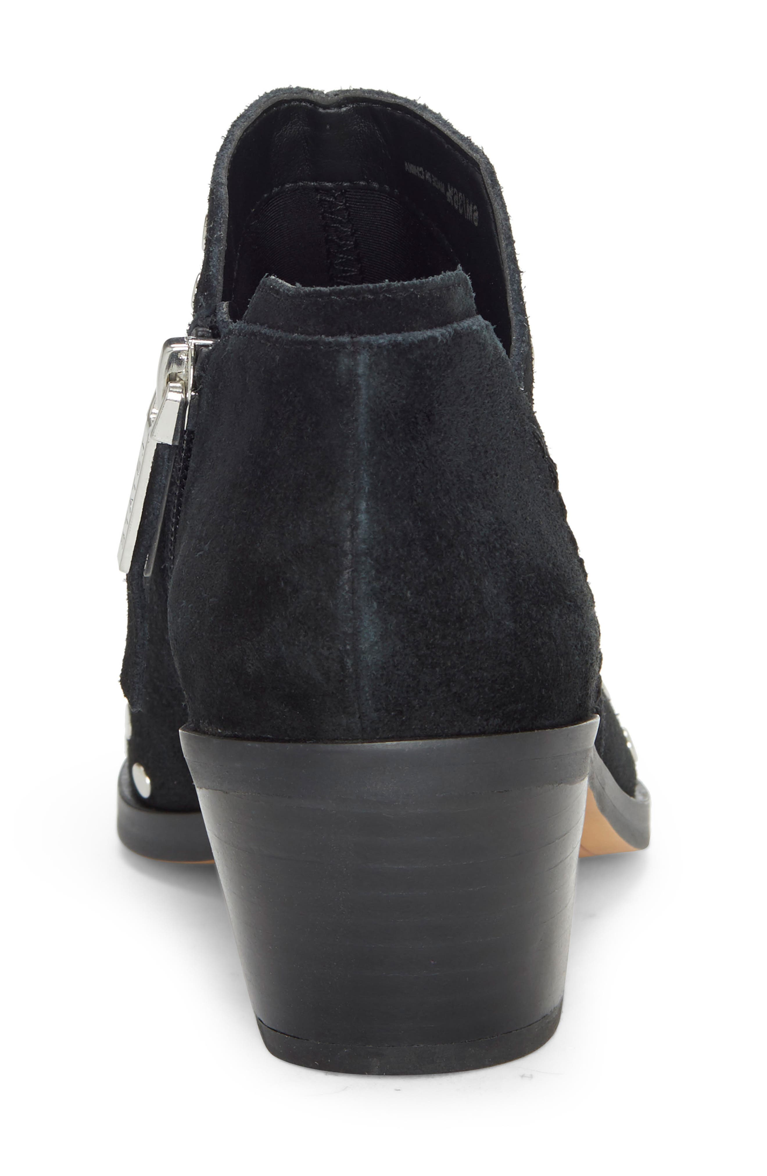 1.STATE, Loka Studded Bootie, Alternate thumbnail 7, color, BLACK SUEDE