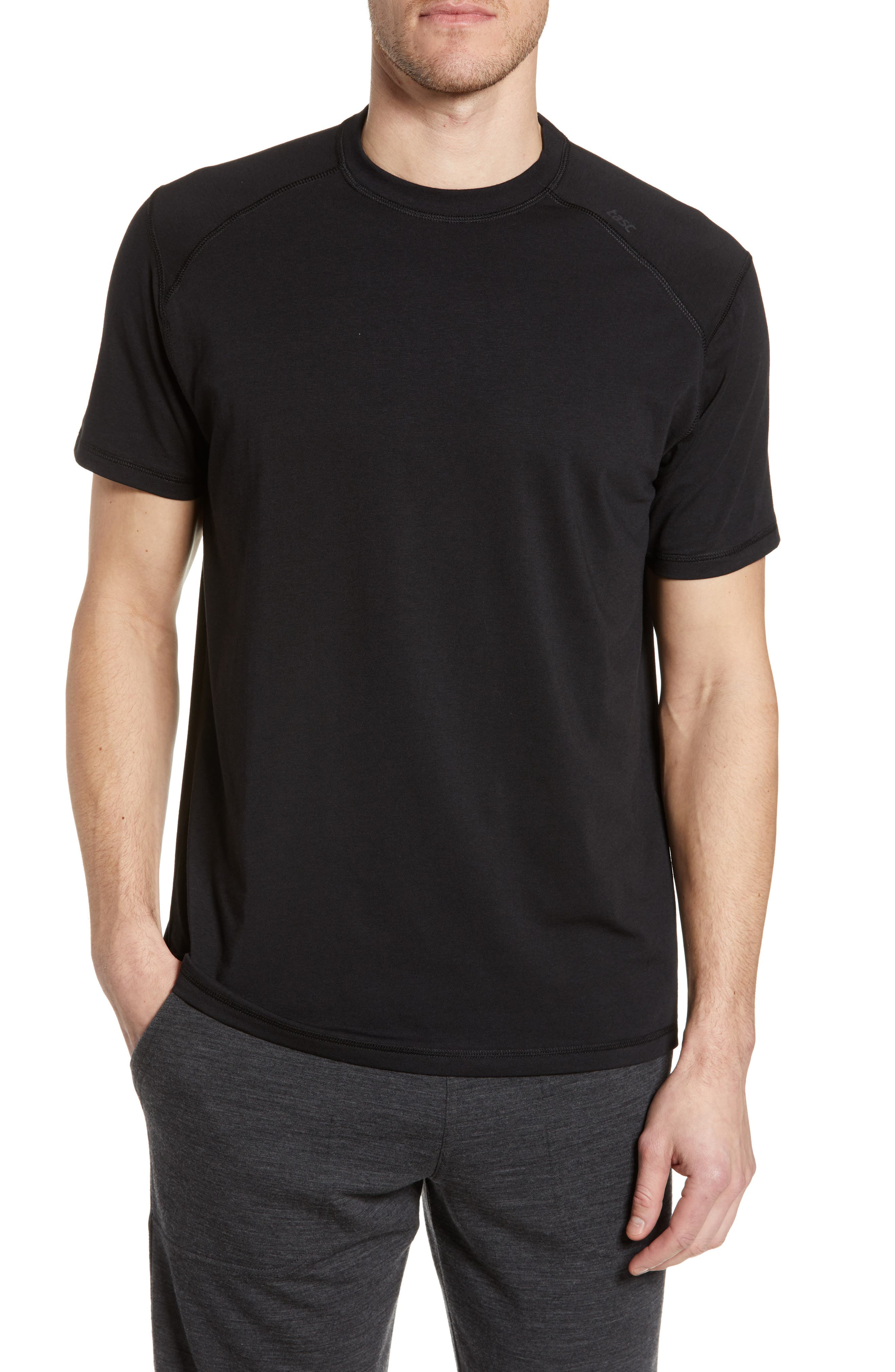TASC PERFORMANCE Carrollton T-Shirt, Main, color, BLACK