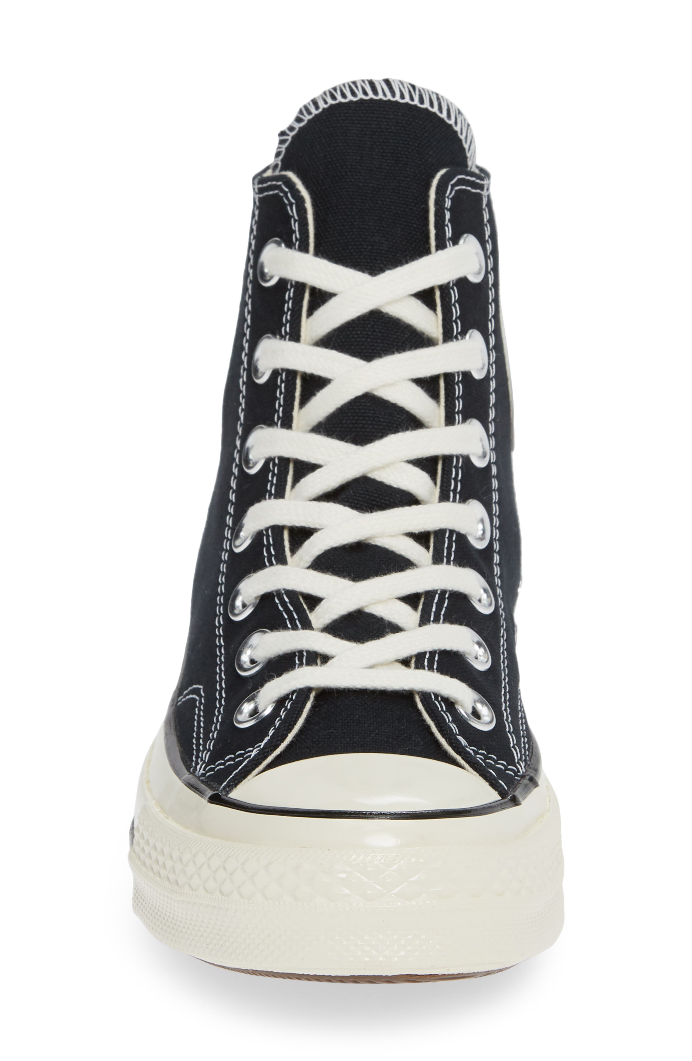 CONVERSE, Chuck Taylor<sup>®</sup> All Star<sup>®</sup> Chuck 70 High Top Sneaker, Alternate thumbnail 4, color, BLACK