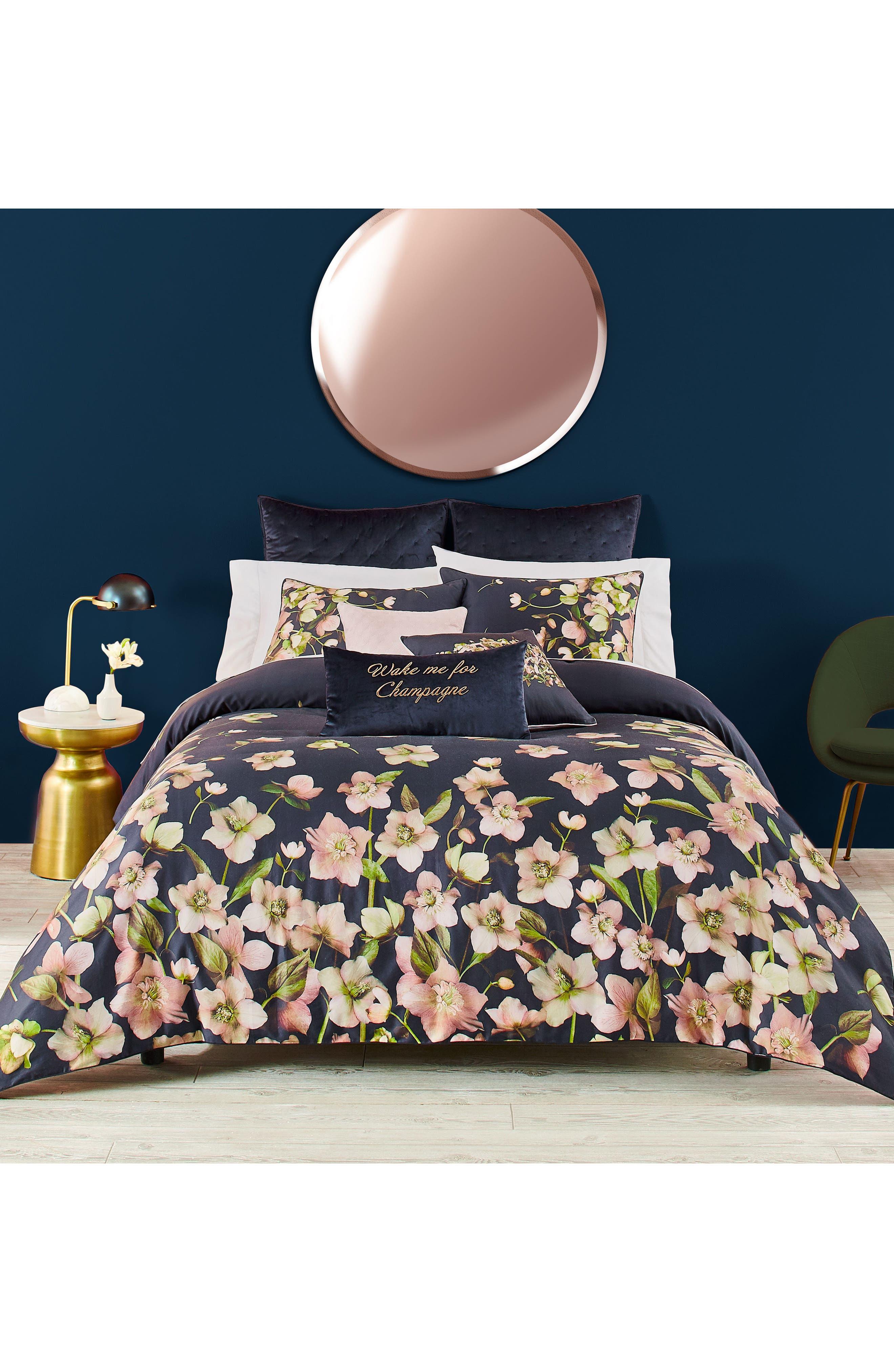 TED BAKER LONDON, Arboretum Comforter & Sham Set, Main thumbnail 1, color, NAVY