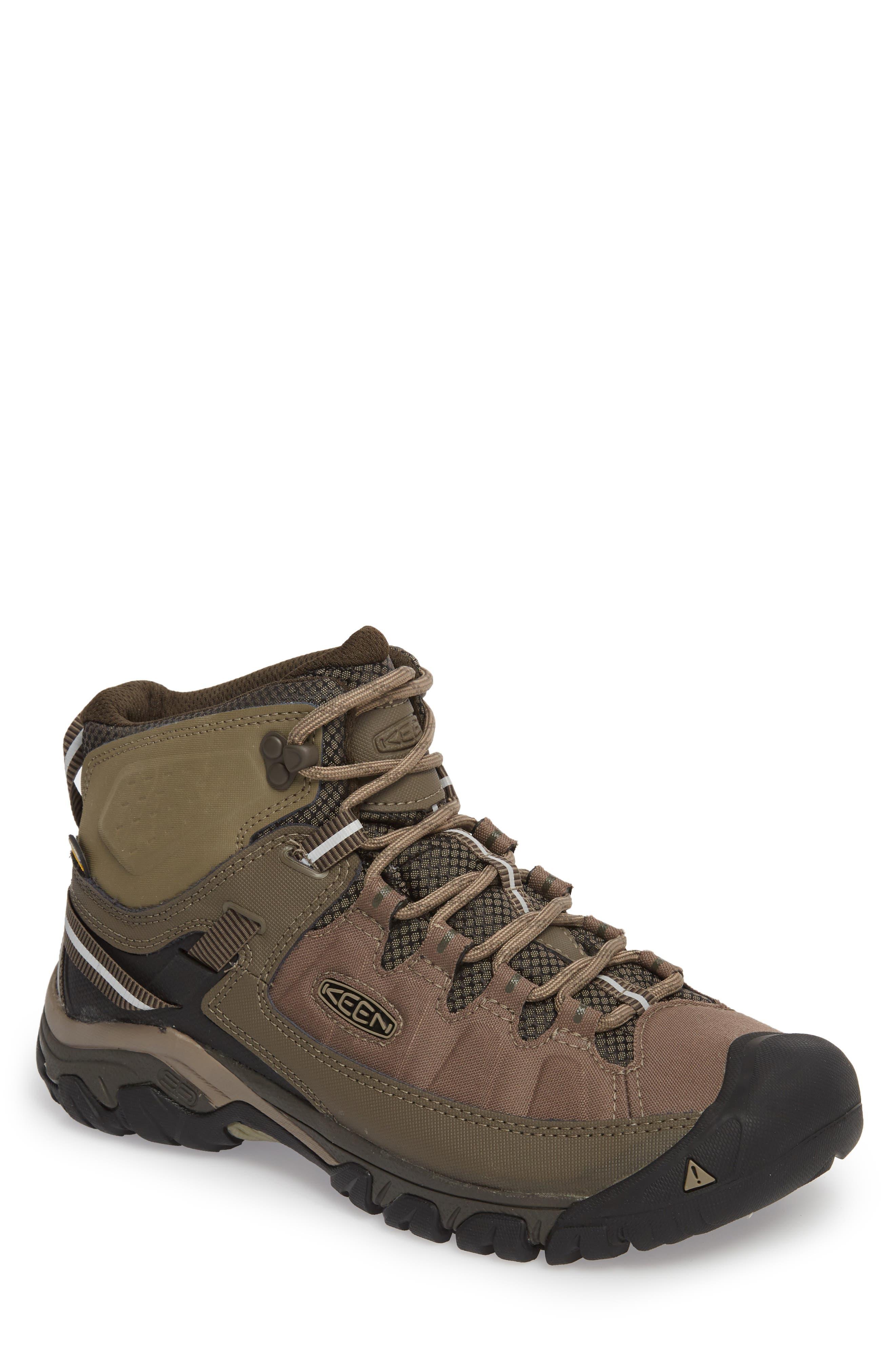 KEEN, Targhee EXP Mid Waterproof Hiking Boot, Main thumbnail 1, color, BUNGEE CORD/BRINDLE