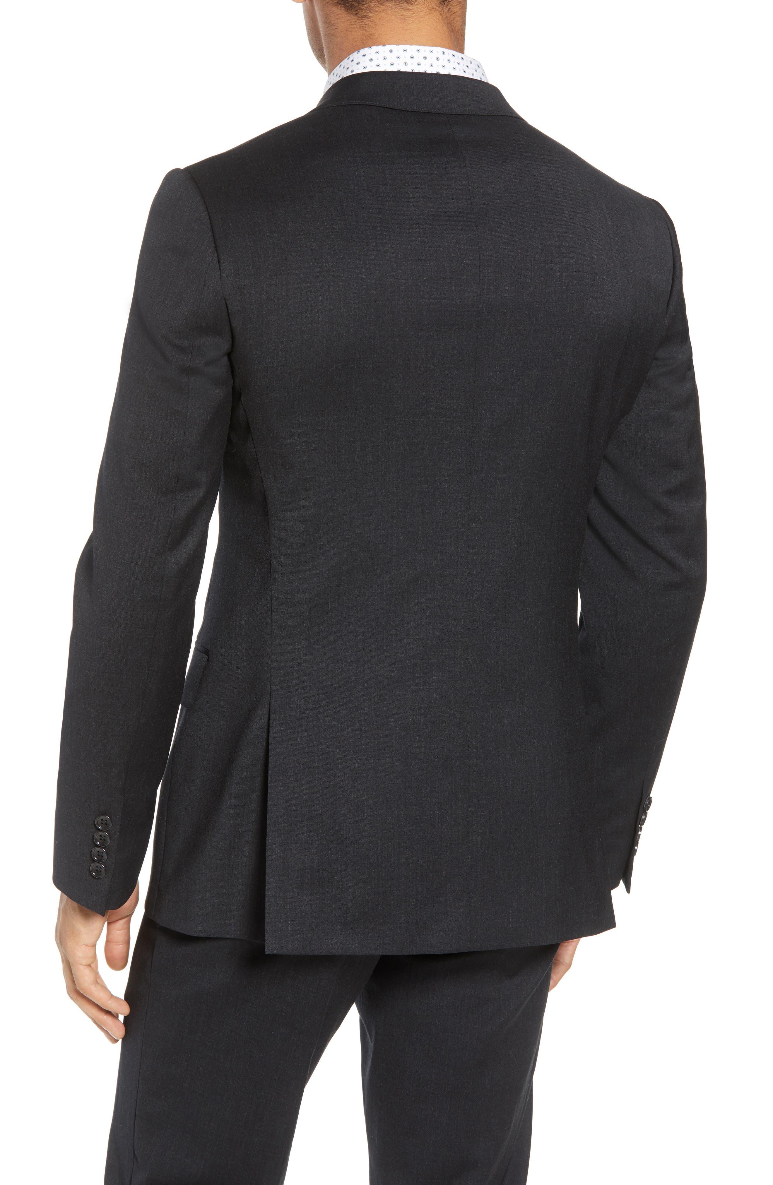 BONOBOS, Jetsetter Slim Fit Stretch Wool Blazer, Alternate thumbnail 2, color, CHARCOAL