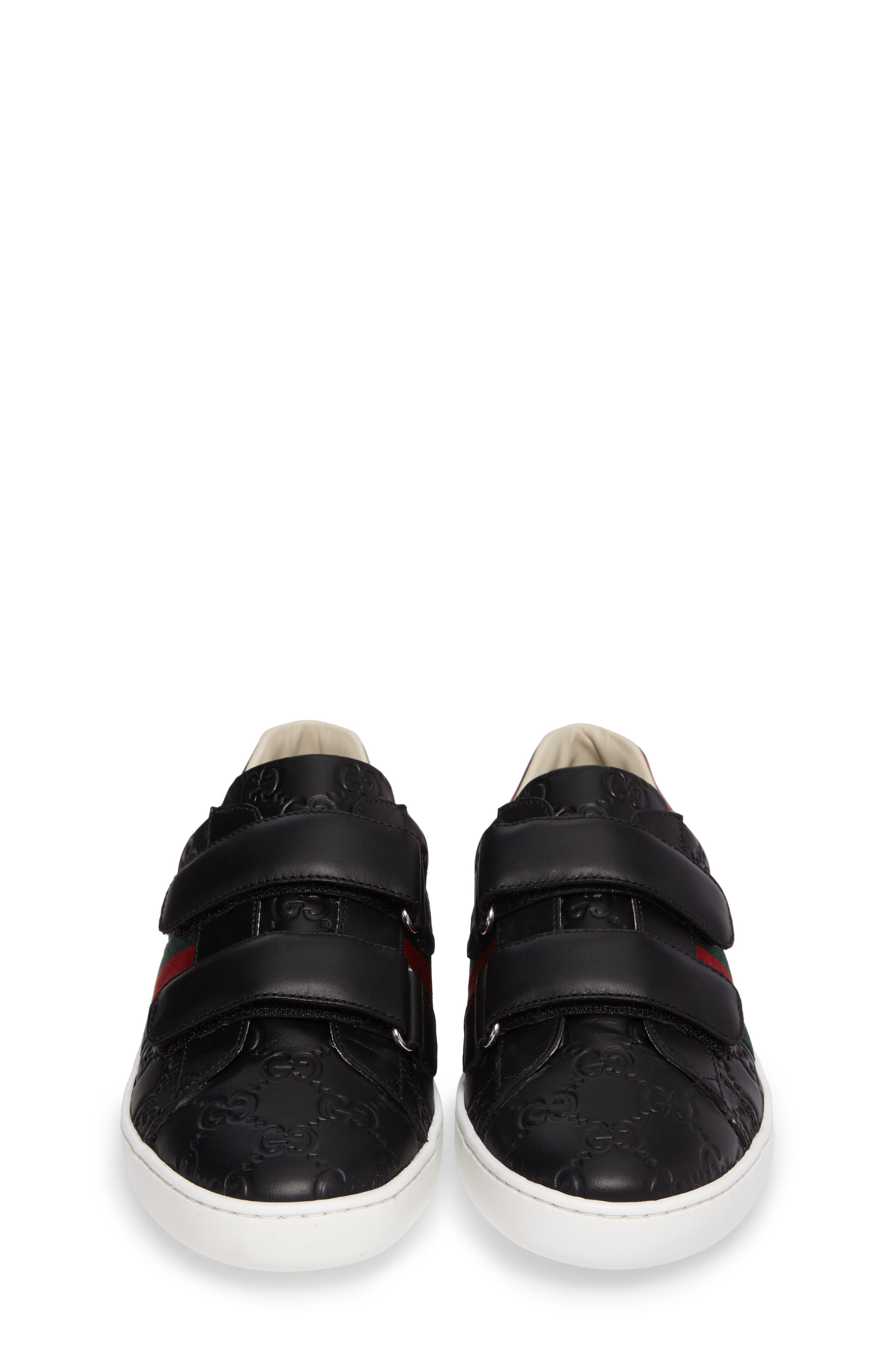 GUCCI, New Ace Sneaker, Alternate thumbnail 5, color, 001