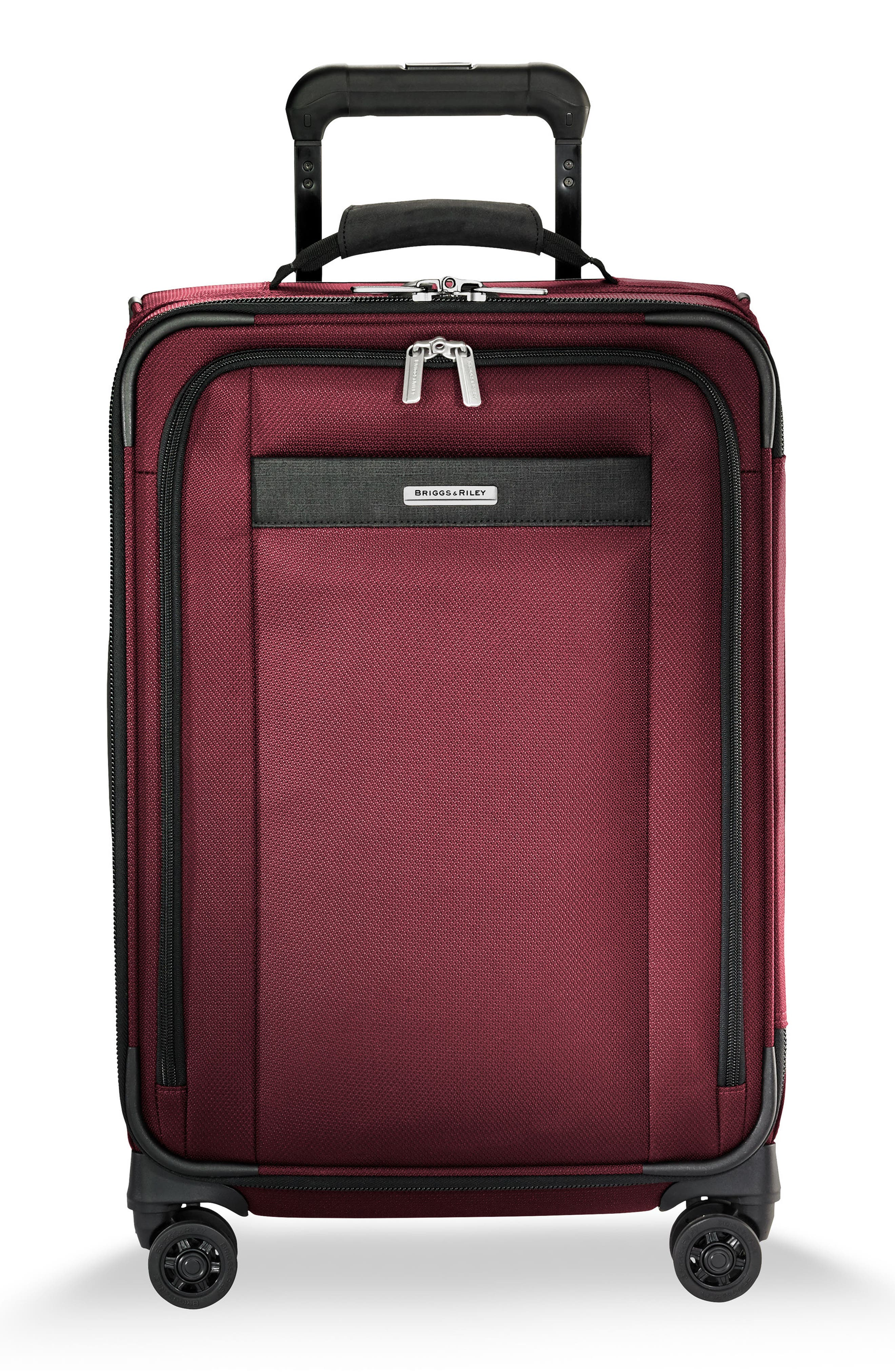 BRIGGS & RILEY Transcend VX Tall Expandable 22-Inch Spinner Suitcase, Main, color, MERLOT RED