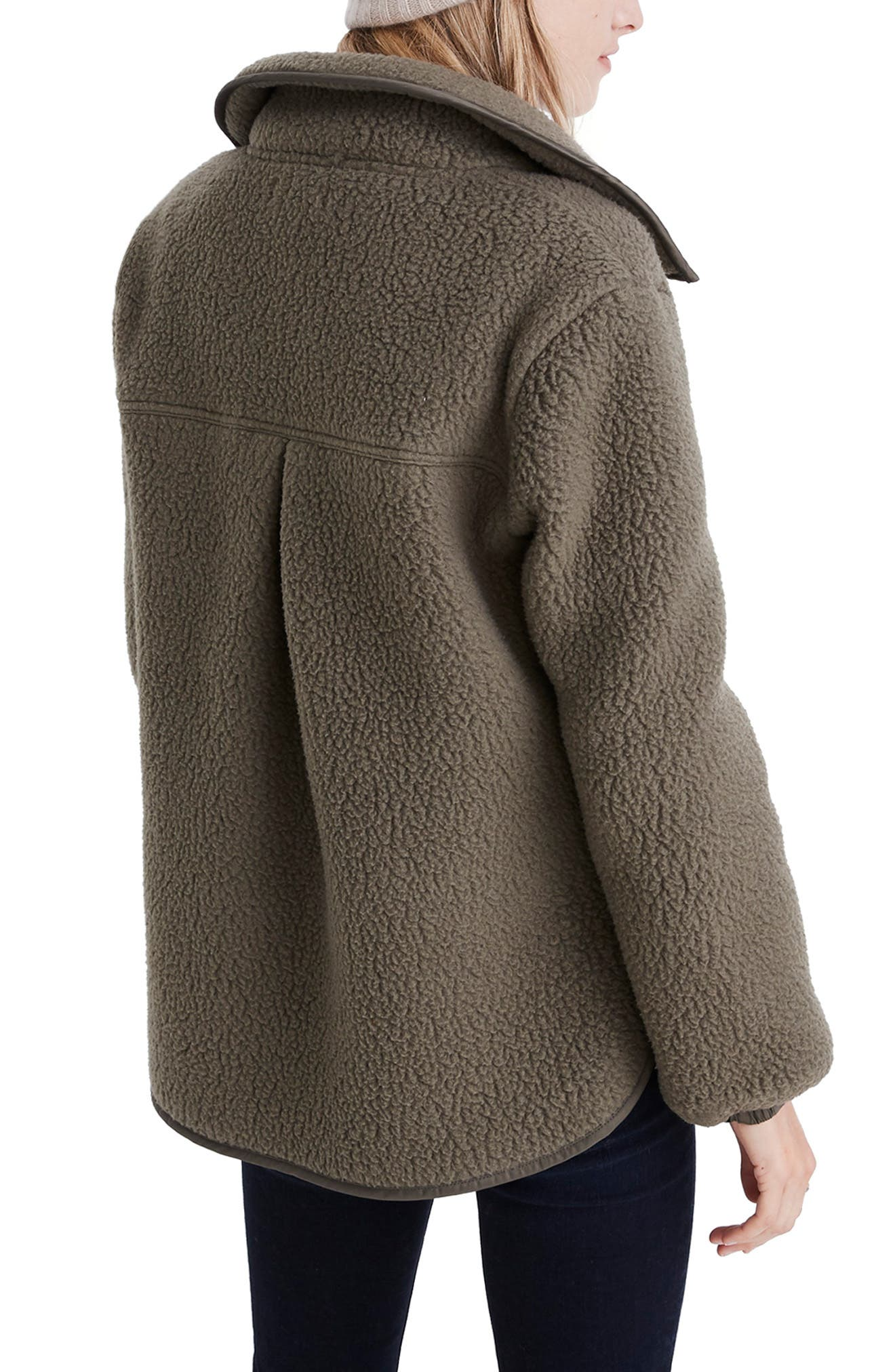 MADEWELL, Polartec<sup>®</sup> Fleece Popover Jacket, Alternate thumbnail 2, color, 300