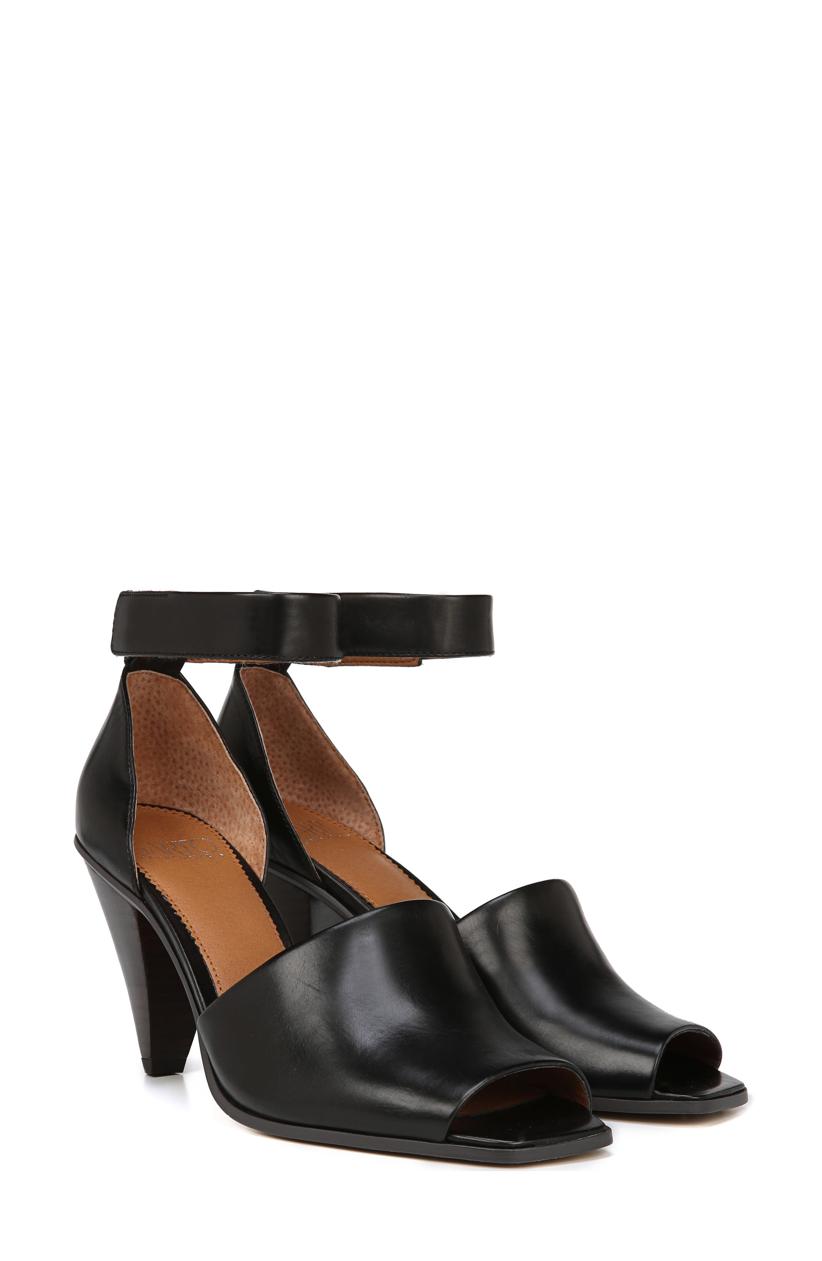 SARTO BY FRANCO SARTO, Ankle Strap Sandal, Alternate thumbnail 7, color, BLACK FOULARD LEATHER