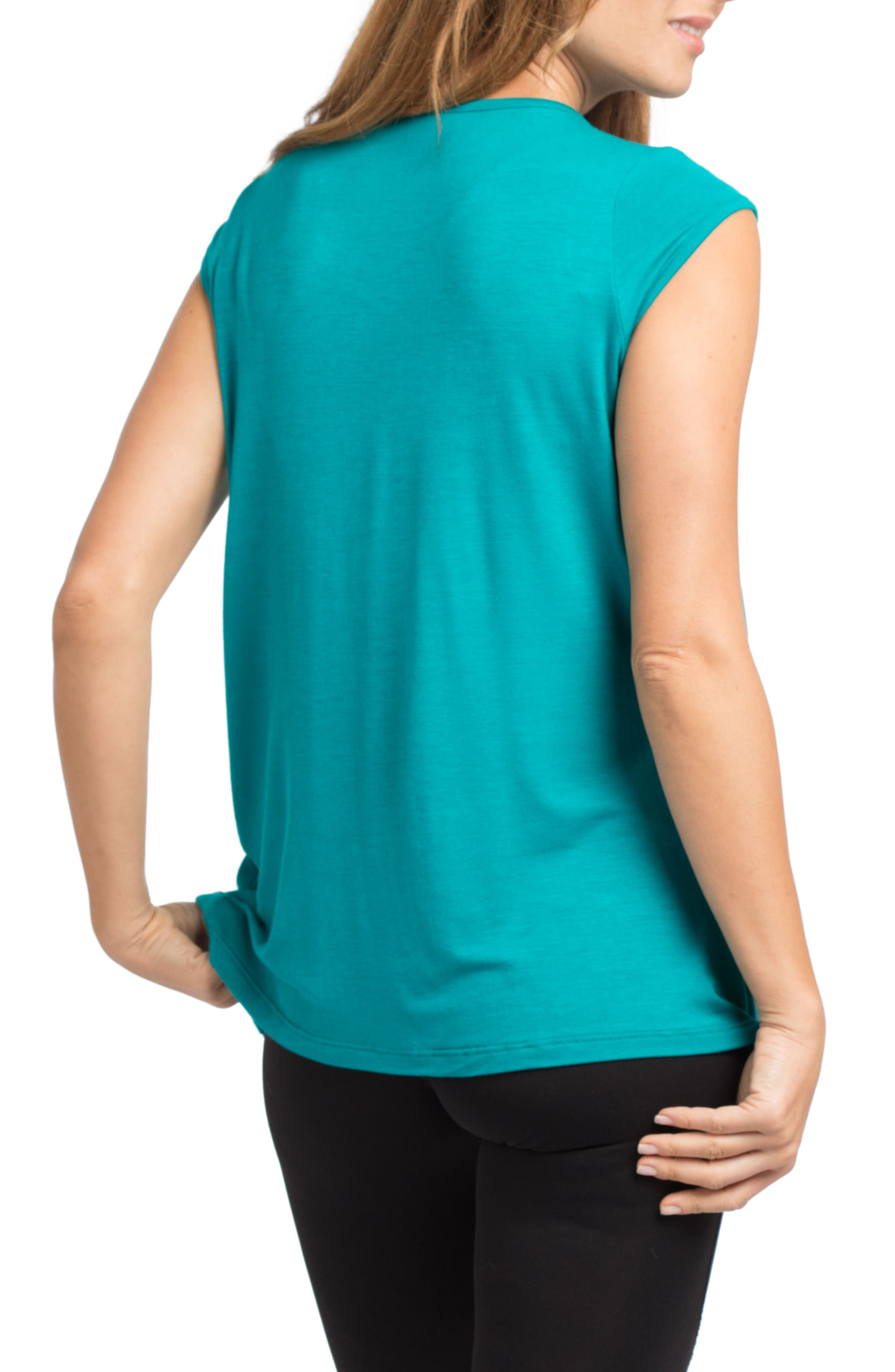 SAVI MOM, Newport Maternity Nursing Top, Alternate thumbnail 2, color, JADE
