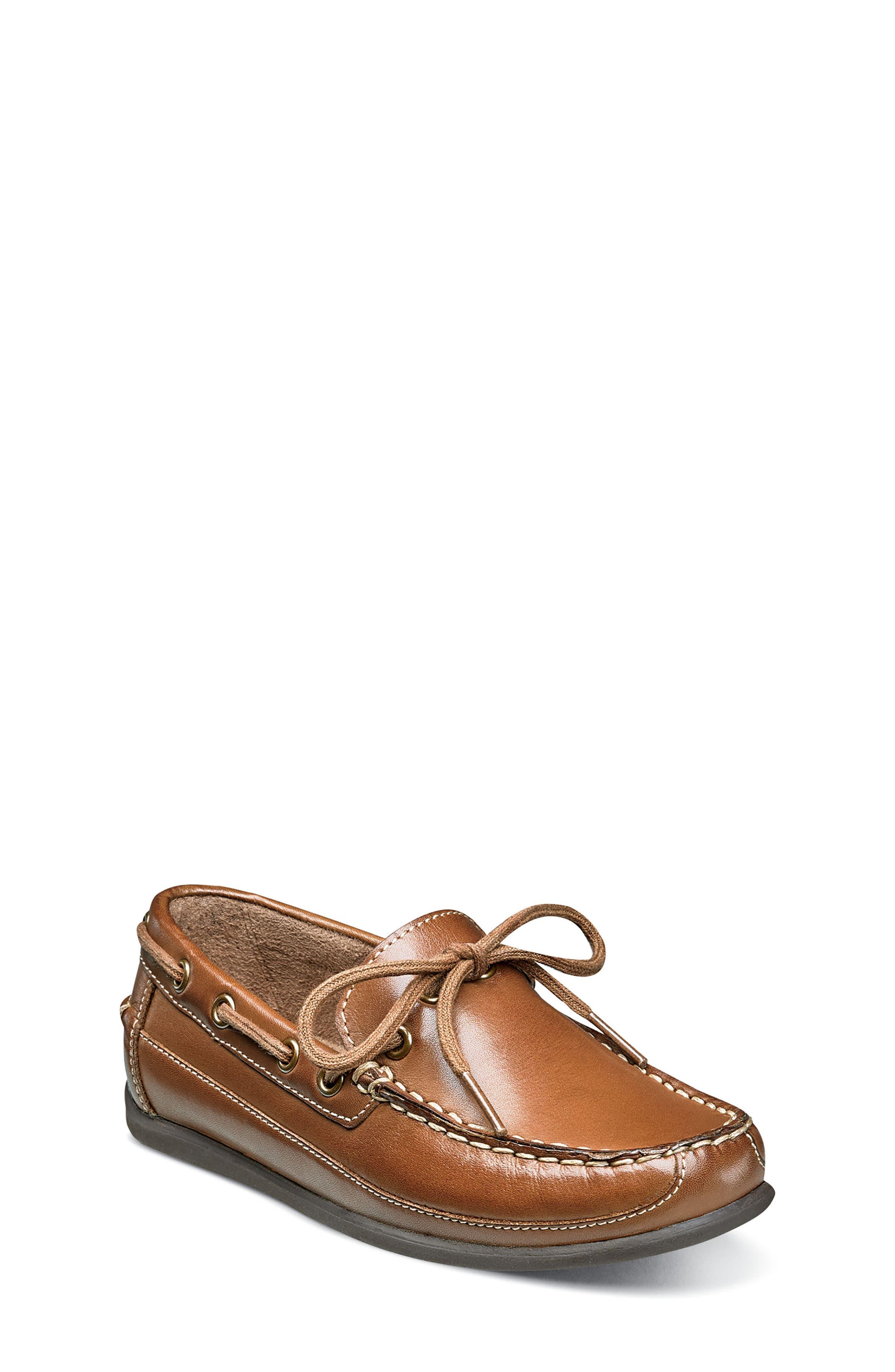 FLORSHEIM, Jasper Boat Shoe, Main thumbnail 1, color, SADDLE TAN