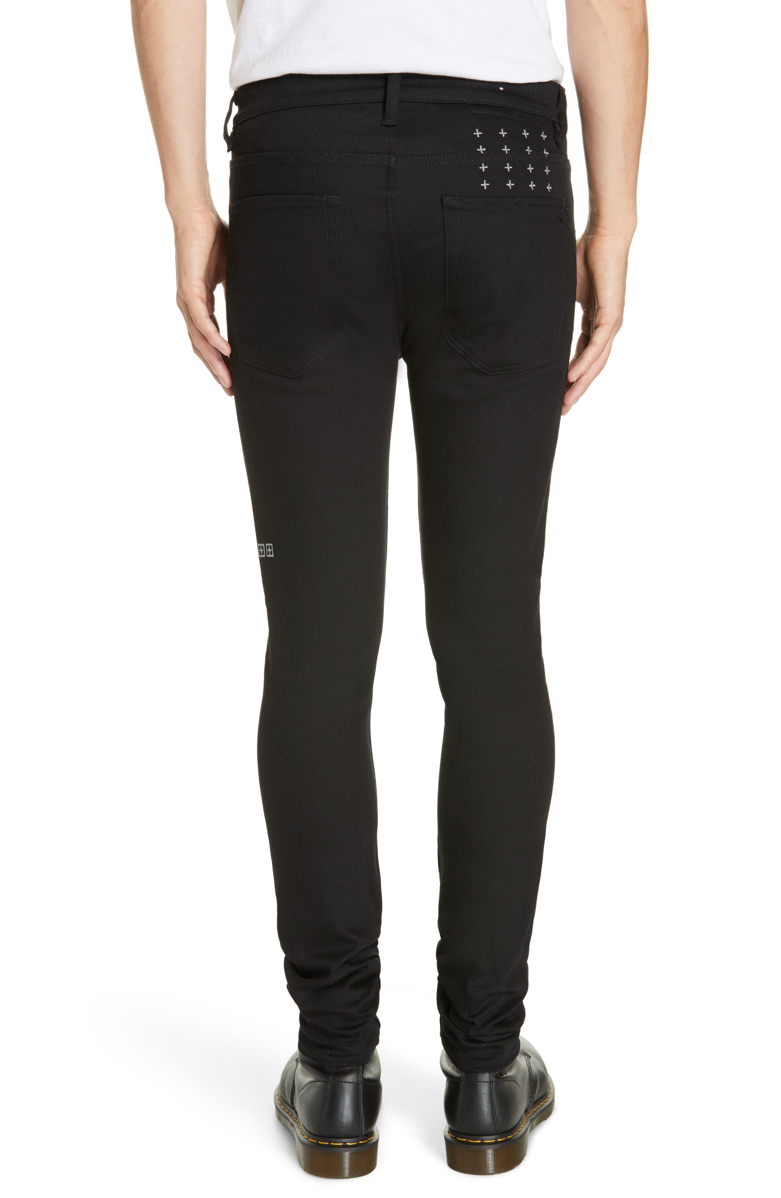 KSUBI, Van Winkle Ace Slice Jeans, Alternate thumbnail 2, color, BLACK