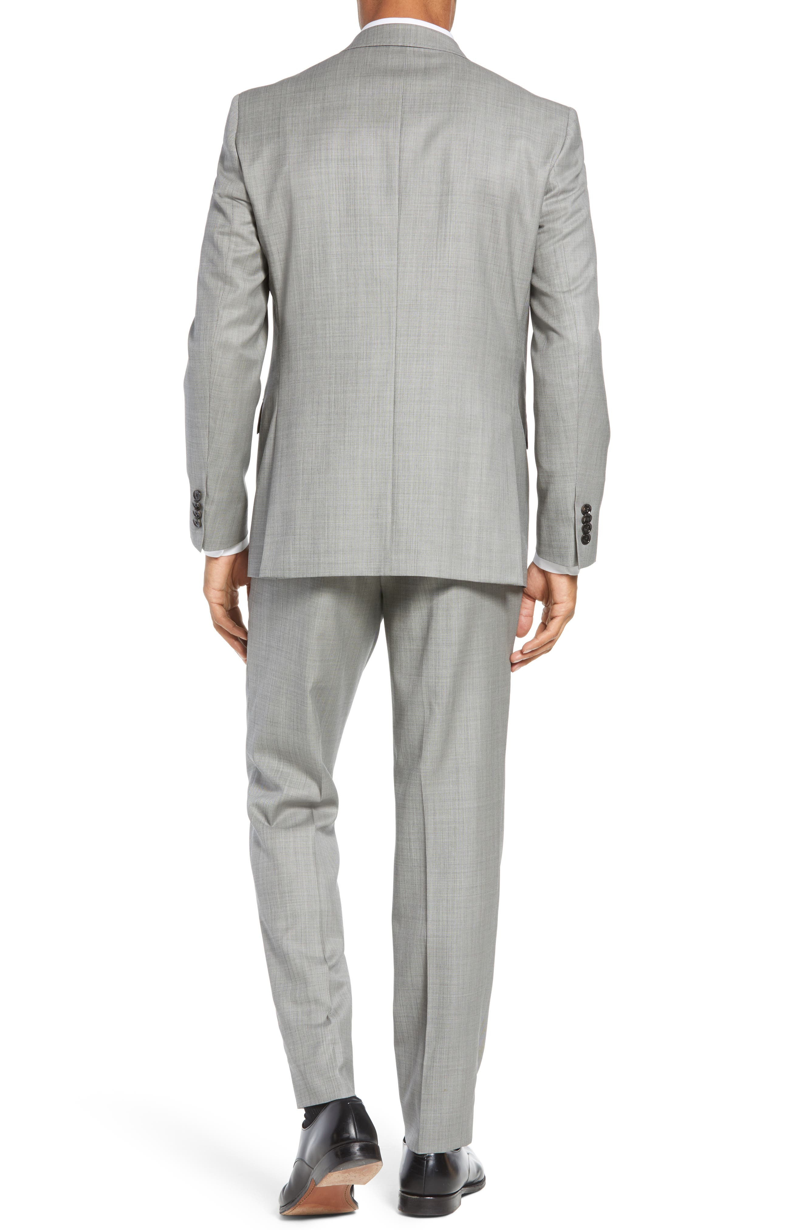 TED BAKER LONDON, Jay Trim Fit Solid Wool Suit, Alternate thumbnail 2, color, LIGHT GREY