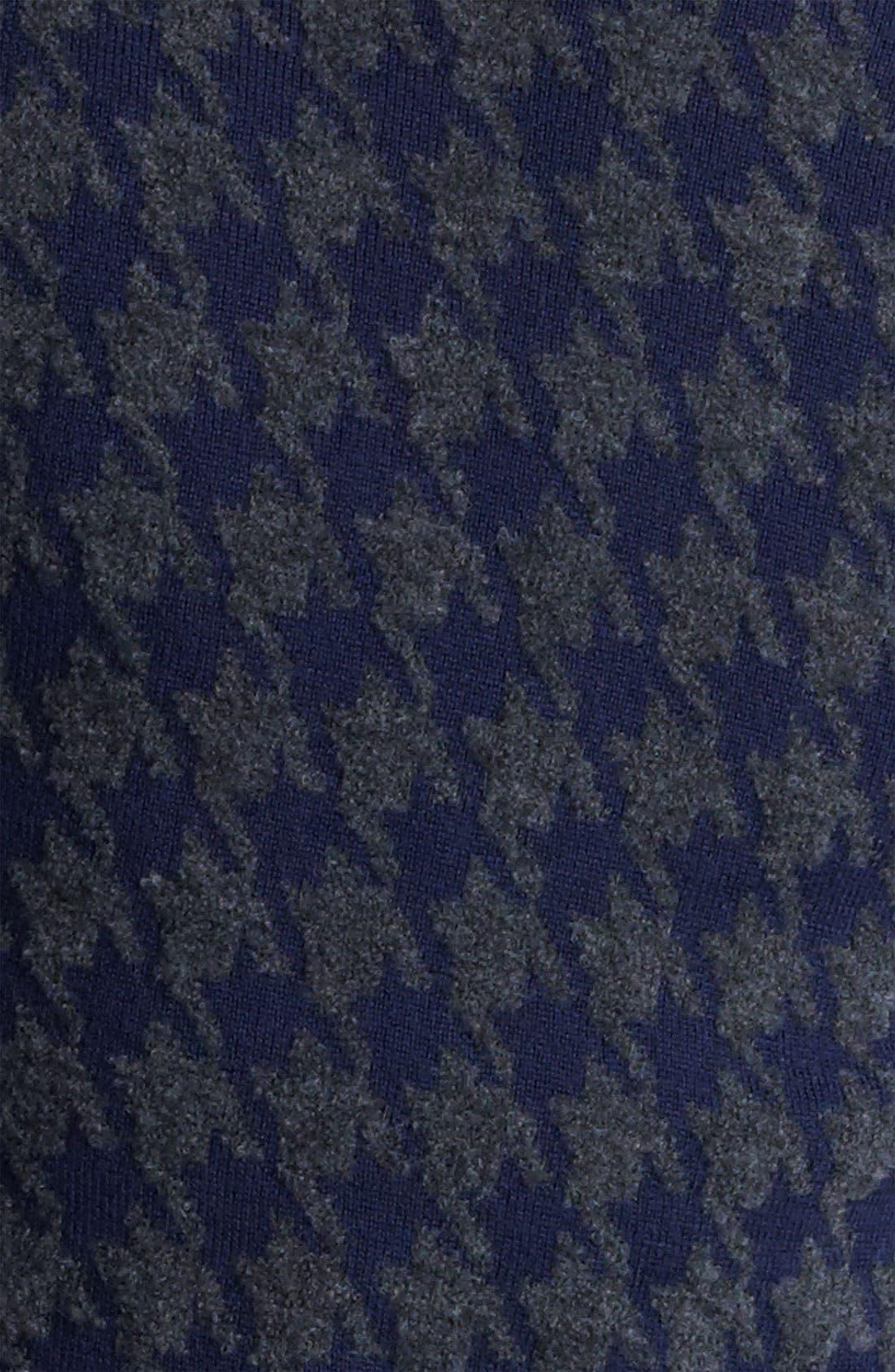 Z ZEGNA, Houndstooth Crewneck Sweater, Alternate thumbnail 3, color, 418