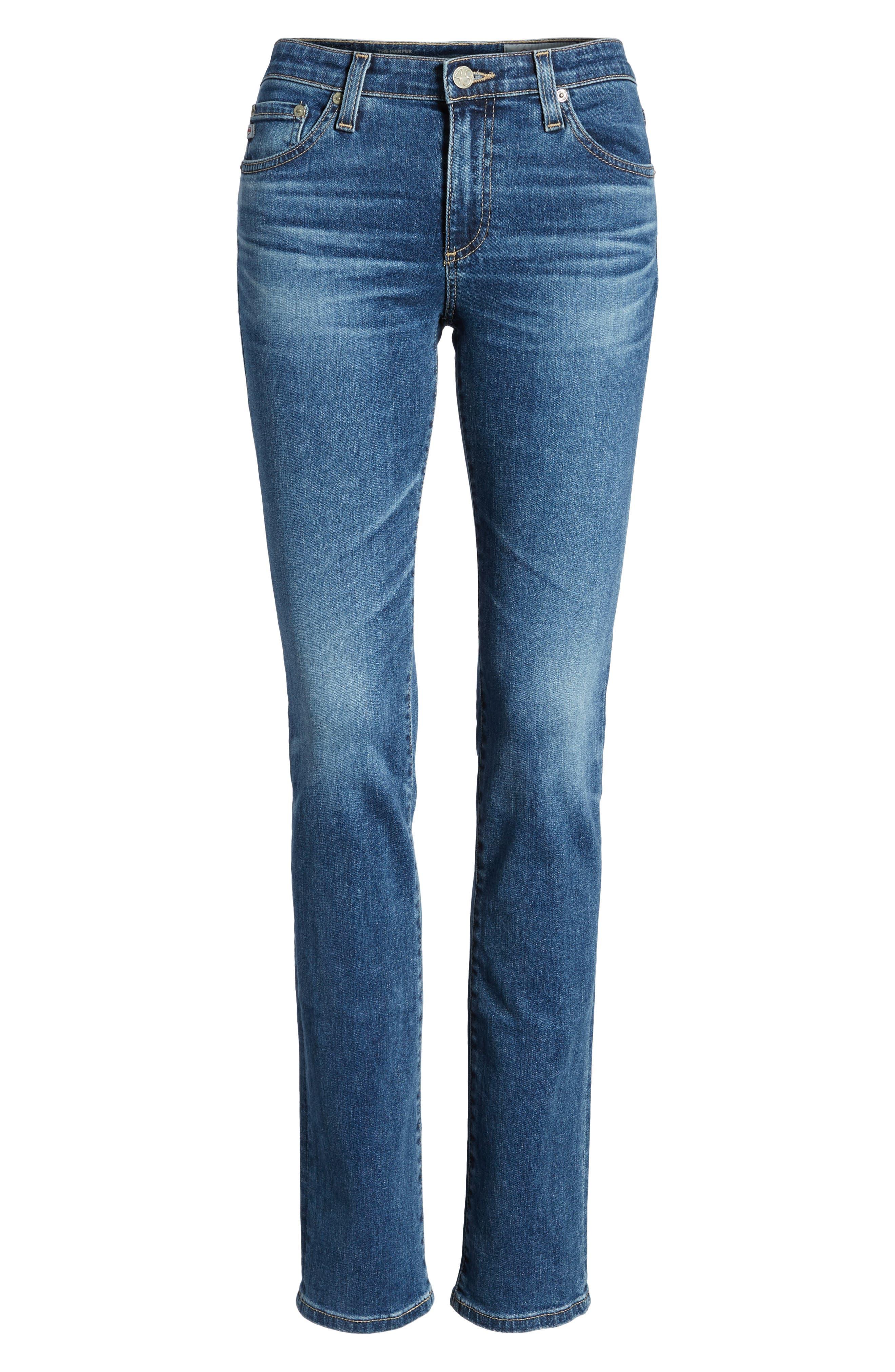 AG, Harper Slim Straight Leg Jeans, Alternate thumbnail 7, color, 10 YEARS CAMBRIA