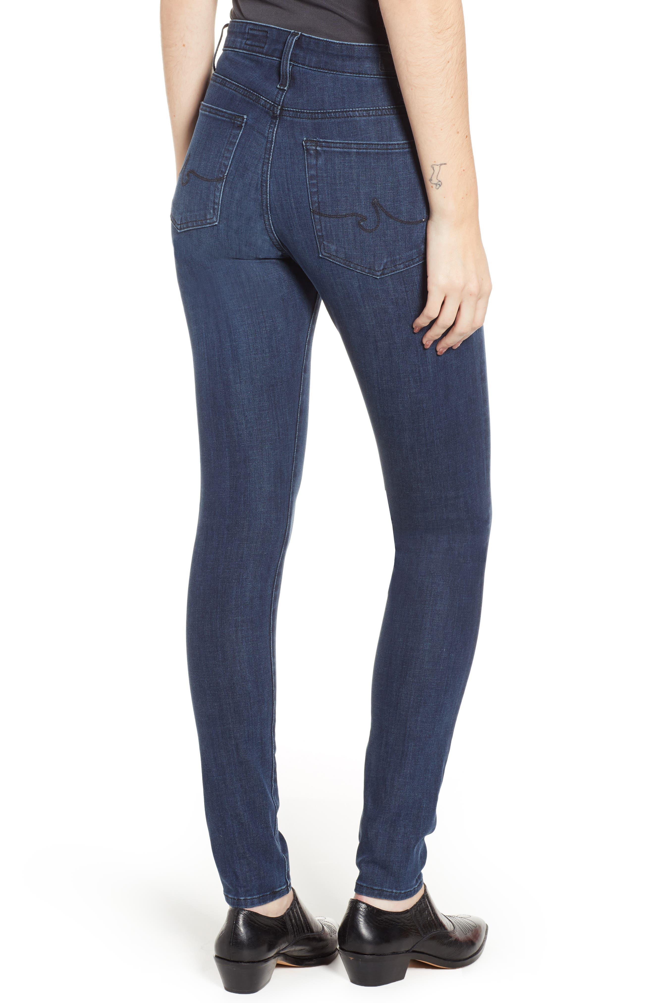 AG, The Farrah High Waist Skinny Jeans, Alternate thumbnail 2, color, 430