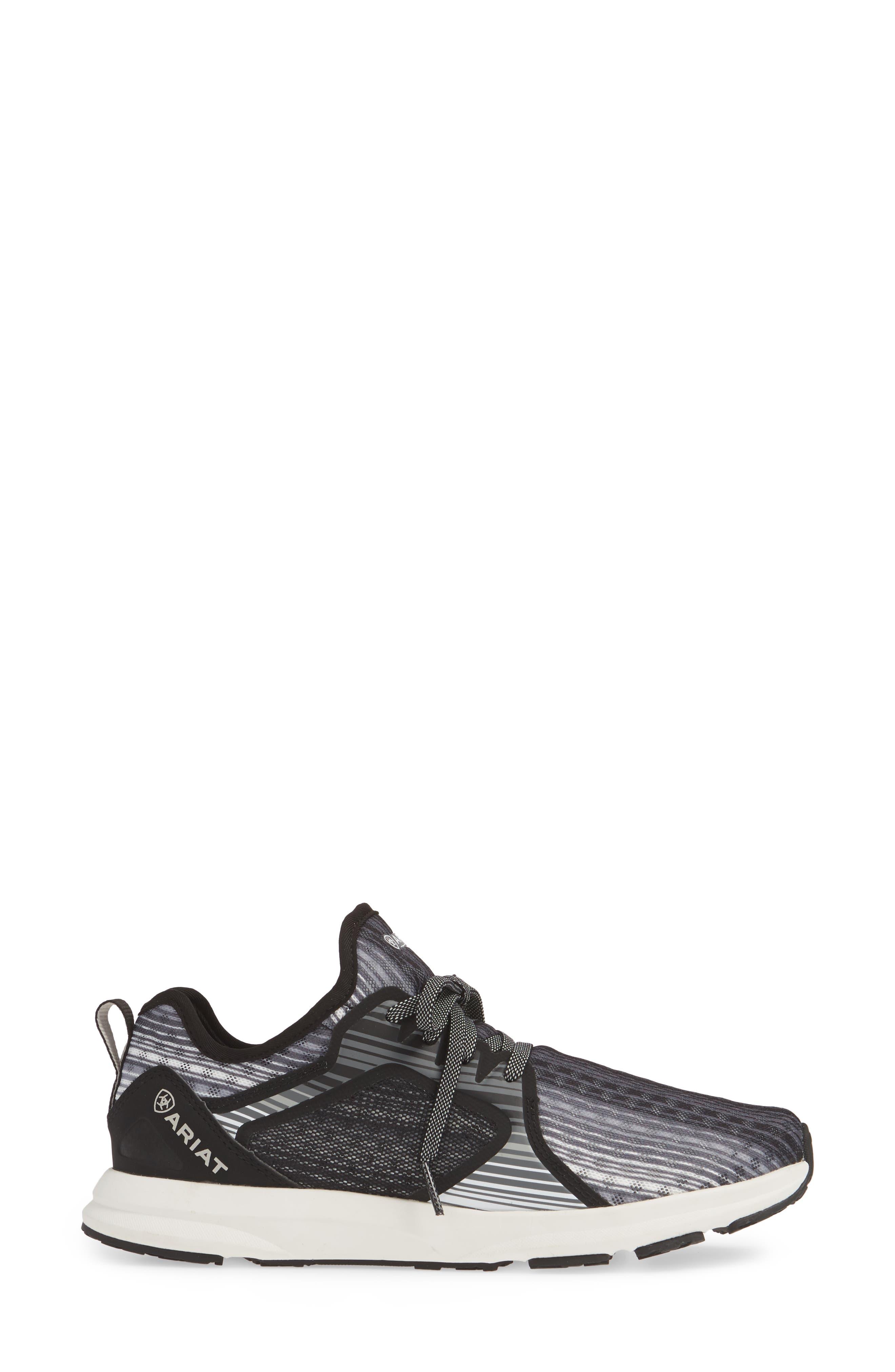 ARIAT, Fuse Print Sneaker, Alternate thumbnail 3, color, GREY STRIPE