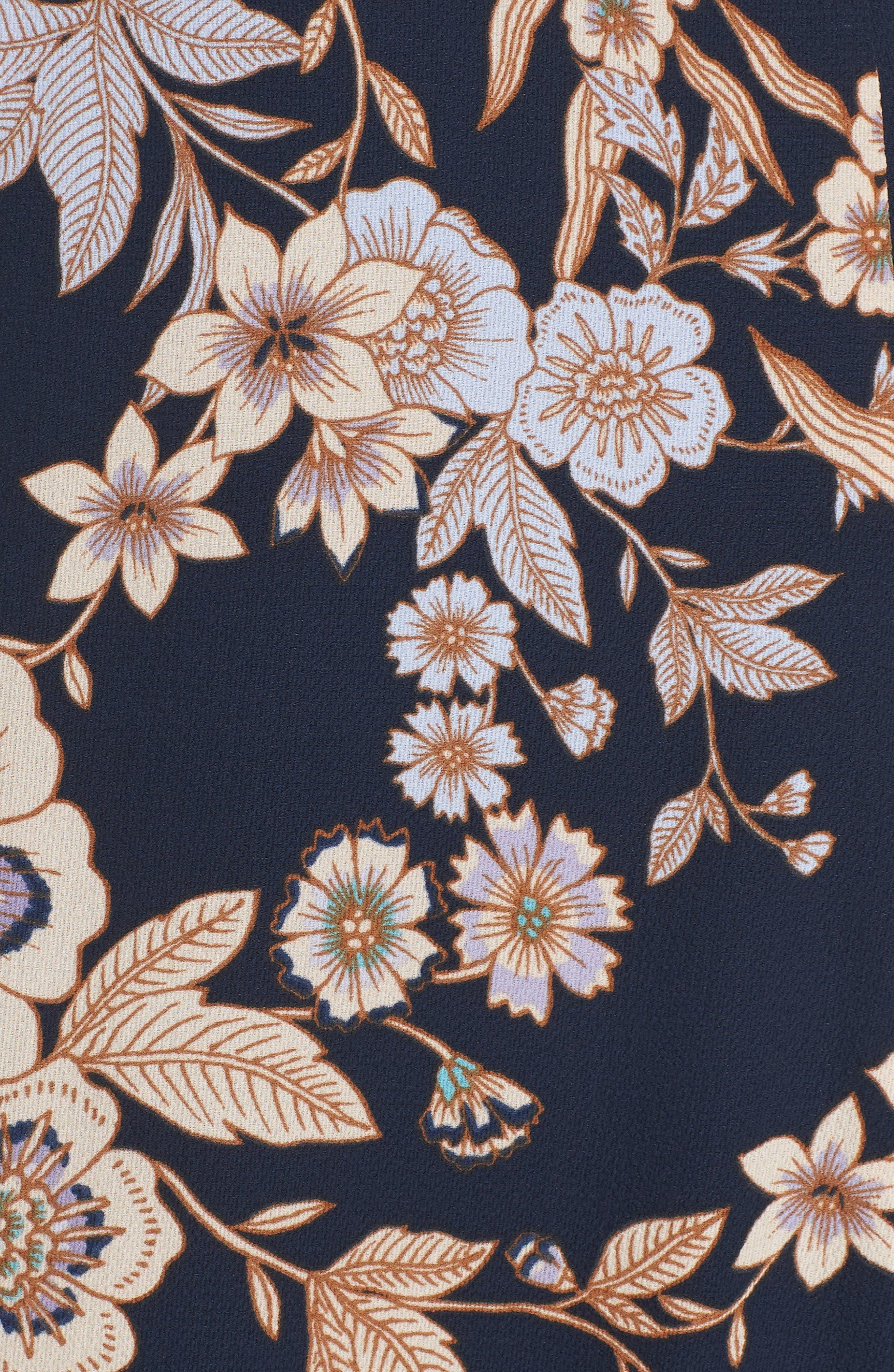 ELIZA J, Floral Midi Dress, Alternate thumbnail 6, color, 410