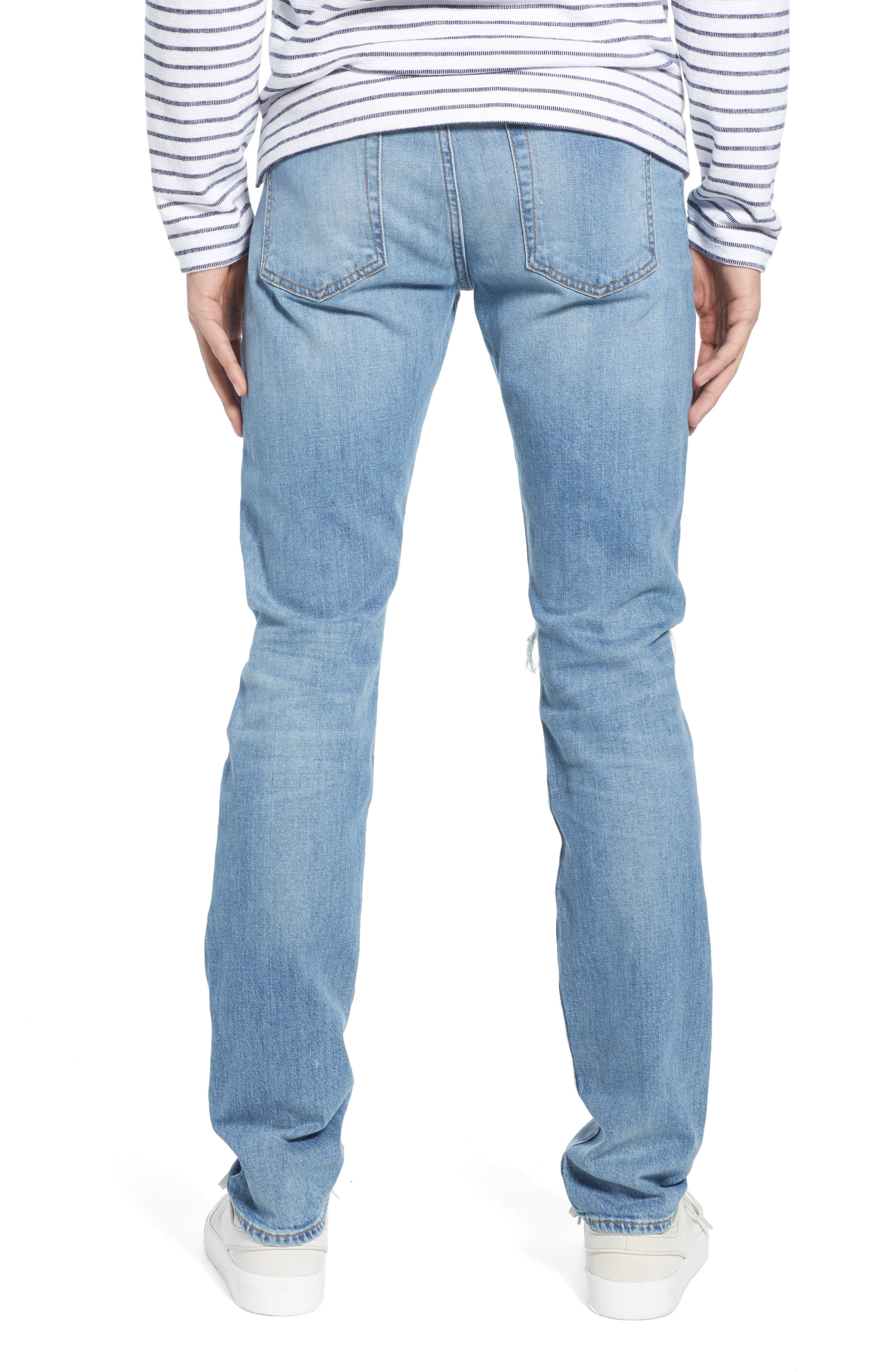 7 FOR ALL MANKIND<SUP>®</SUP>, Paxtyn Ripped Skinny Jeans, Alternate thumbnail 2, color, CONQUISTAD