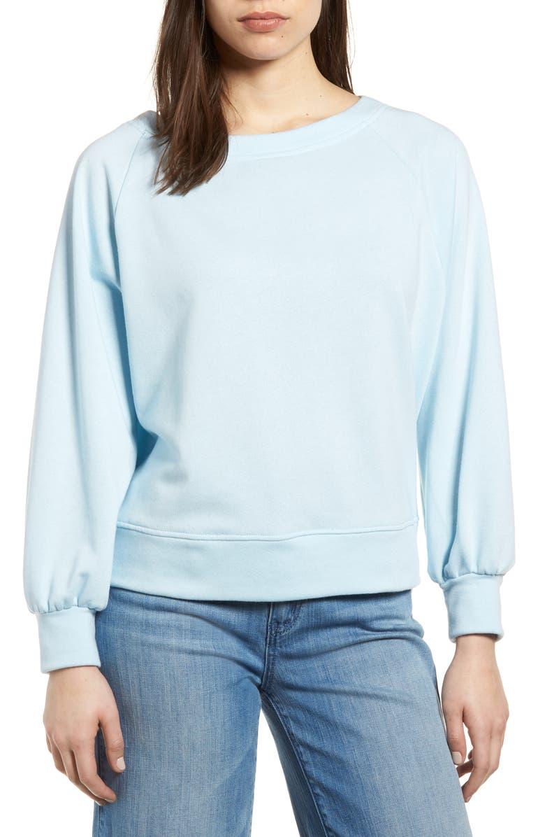 6bcbbcedf2834f GIBSON Tie Back Sweatshirt, Main, color, 400