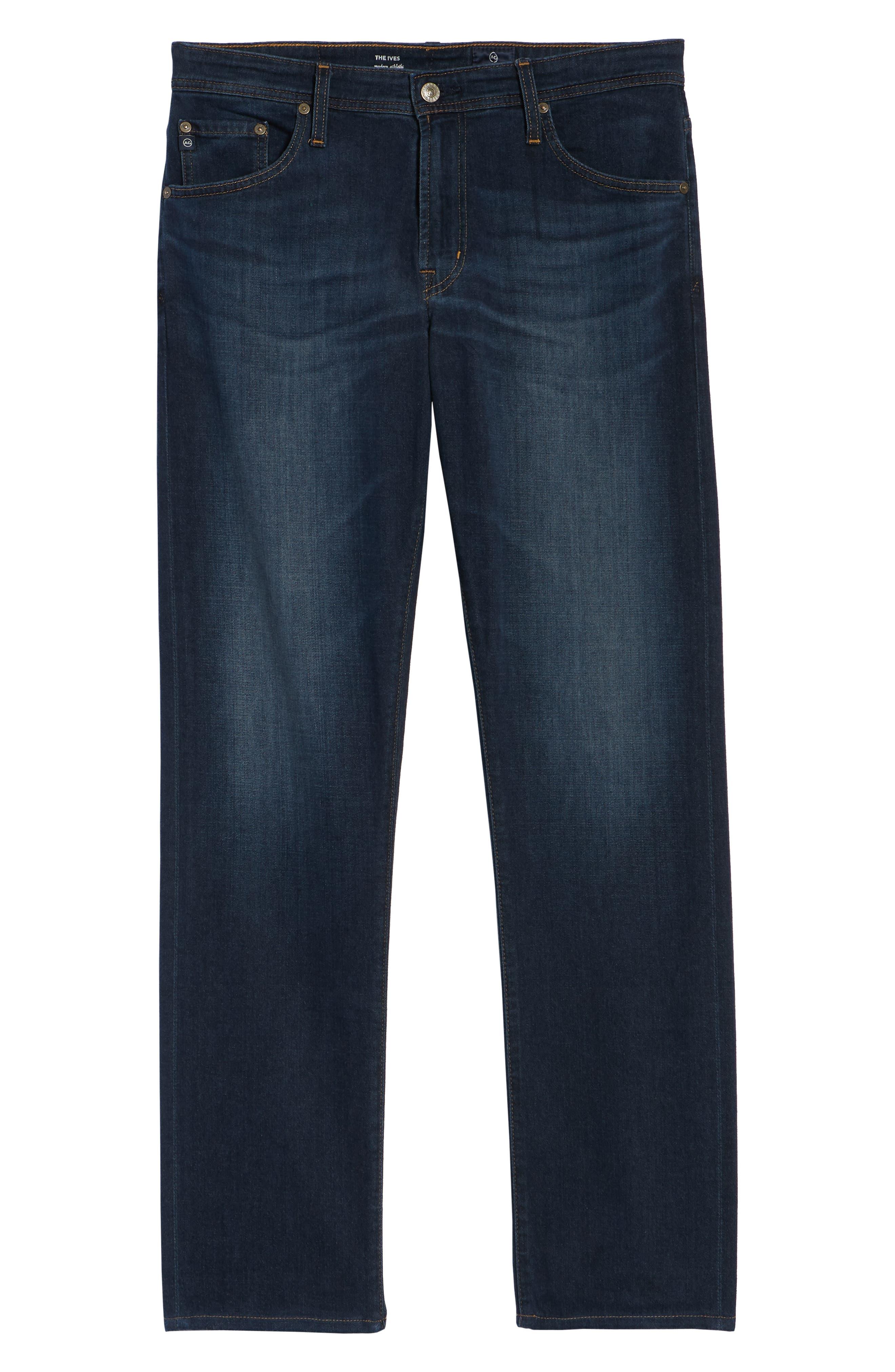 AG, Ives Straight Leg Jeans, Alternate thumbnail 7, color, COVET