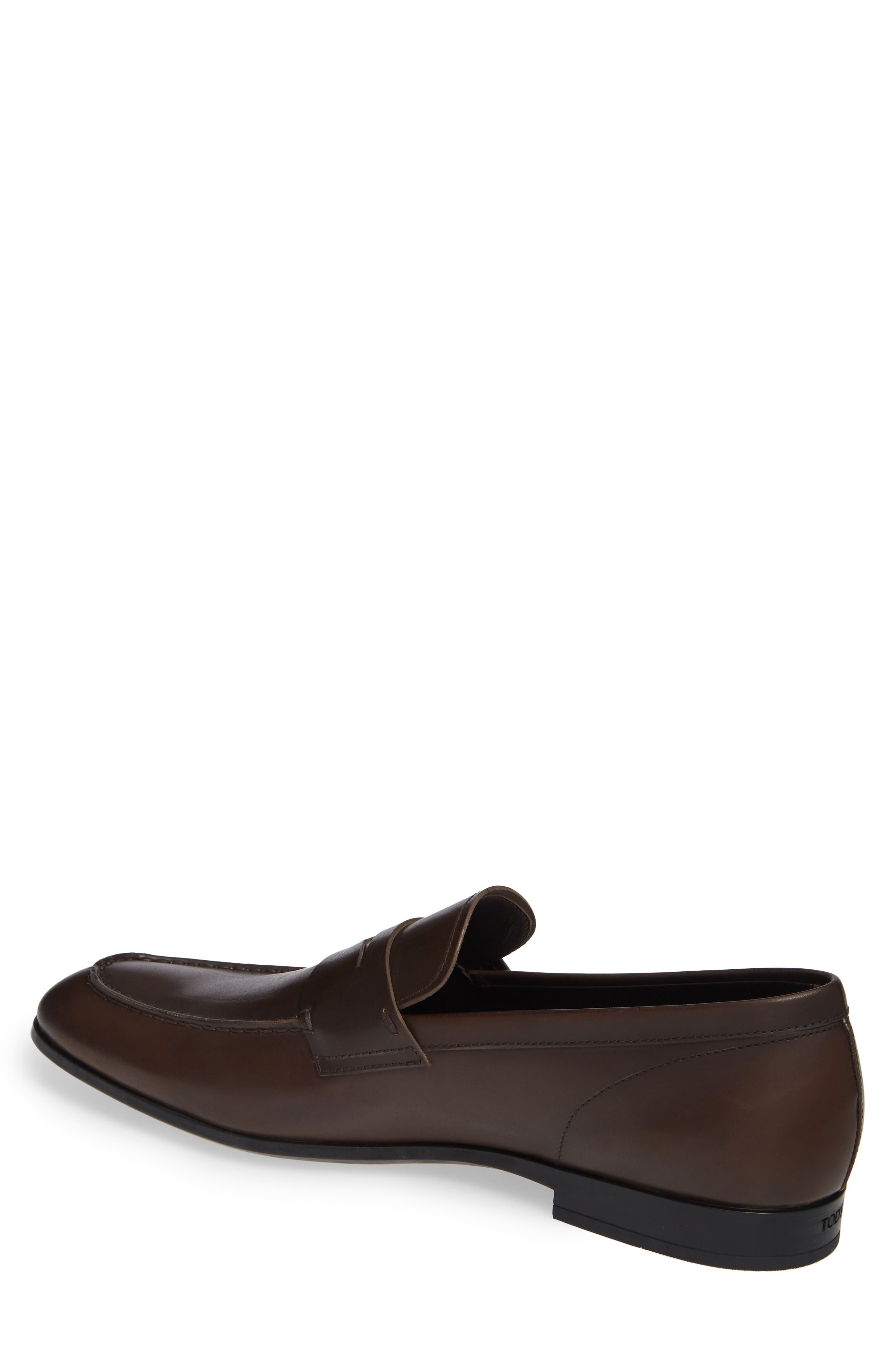 TOD'S, Mocassino Penny Loafer, Alternate thumbnail 2, color, DARK BROWN