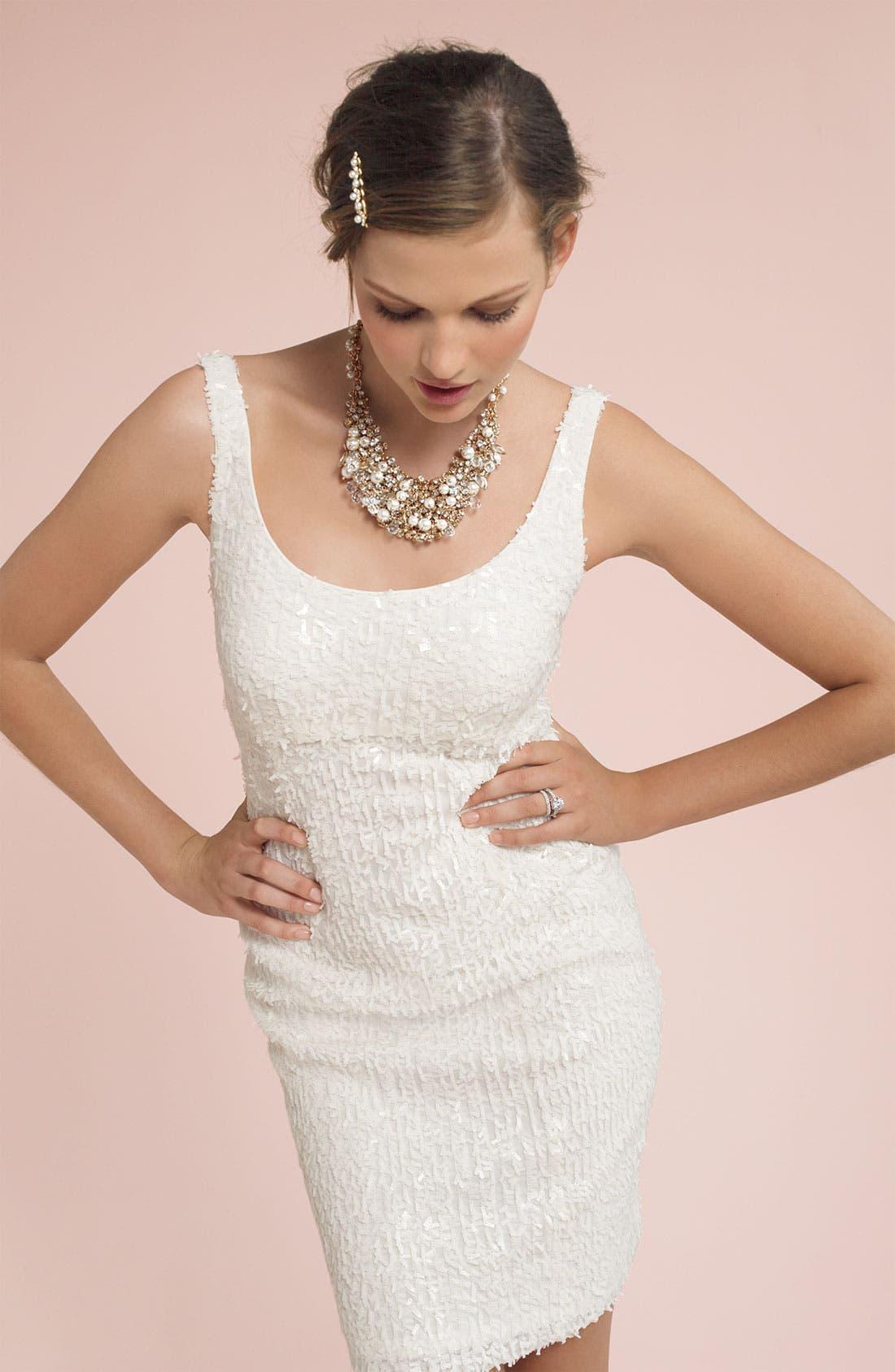 SUZI CHIN FOR MAGGY BOUTIQUE, Paillette Sheath Dress, Alternate thumbnail 3, color, 900