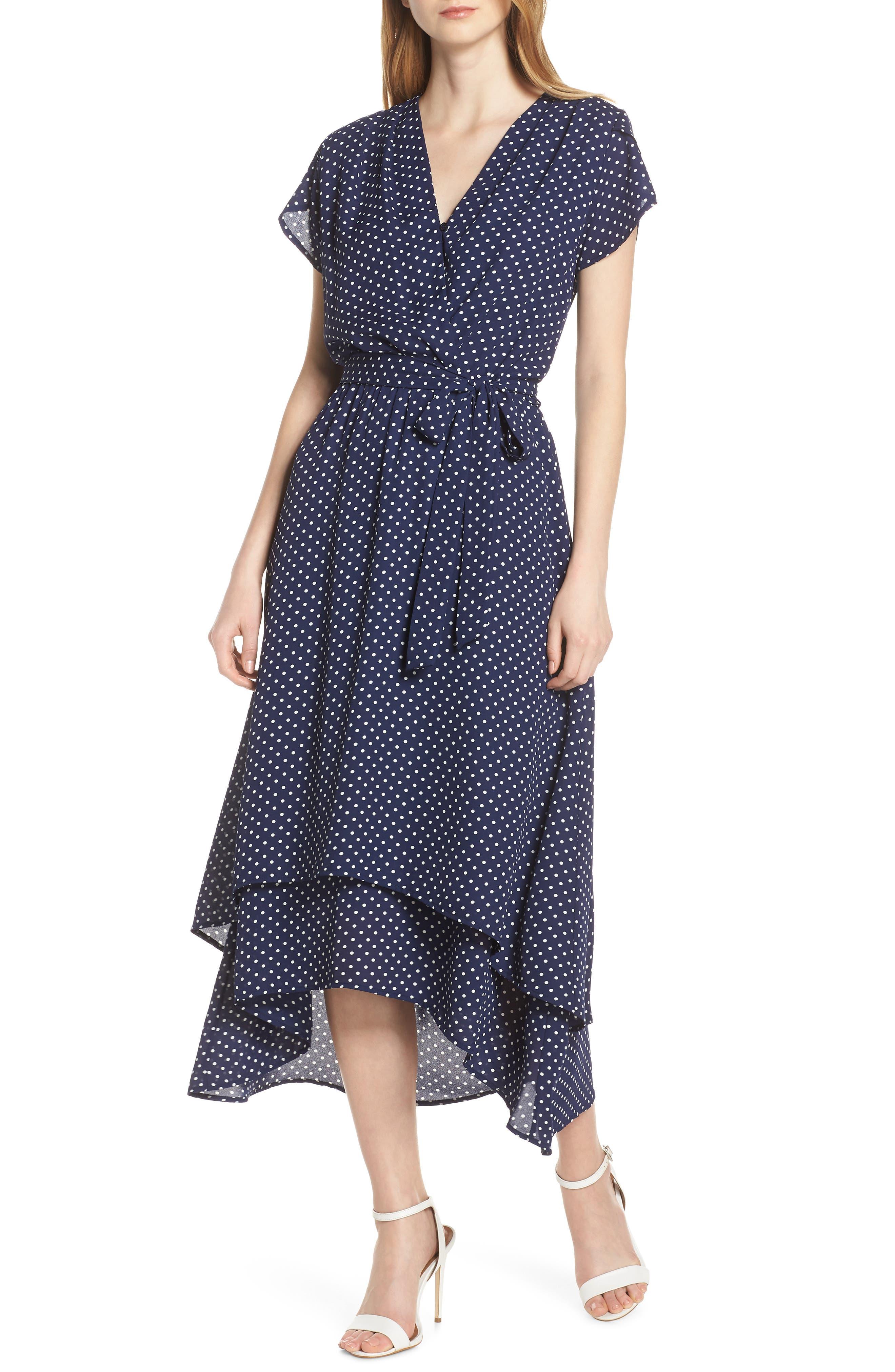 Fraiche By J Michelle High/low Midi Dress, Blue