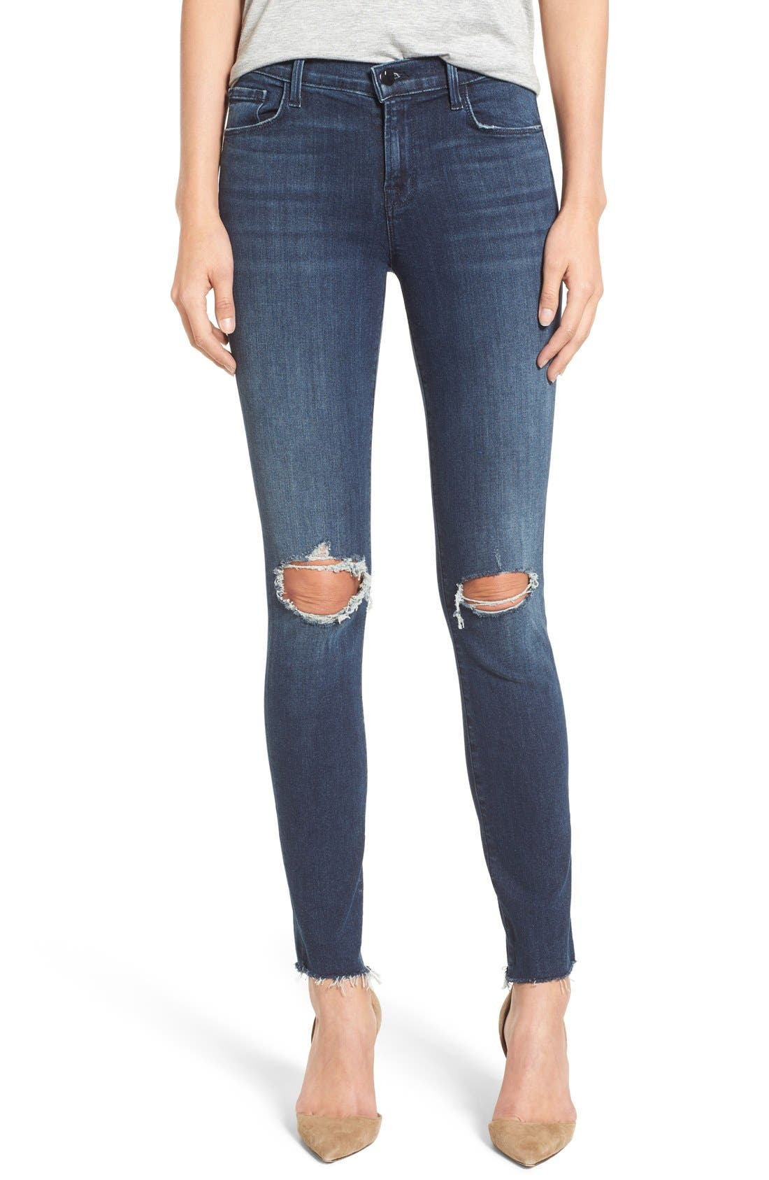 J BRAND, '811' Ankle Skinny Jeans, Main thumbnail 1, color, 401